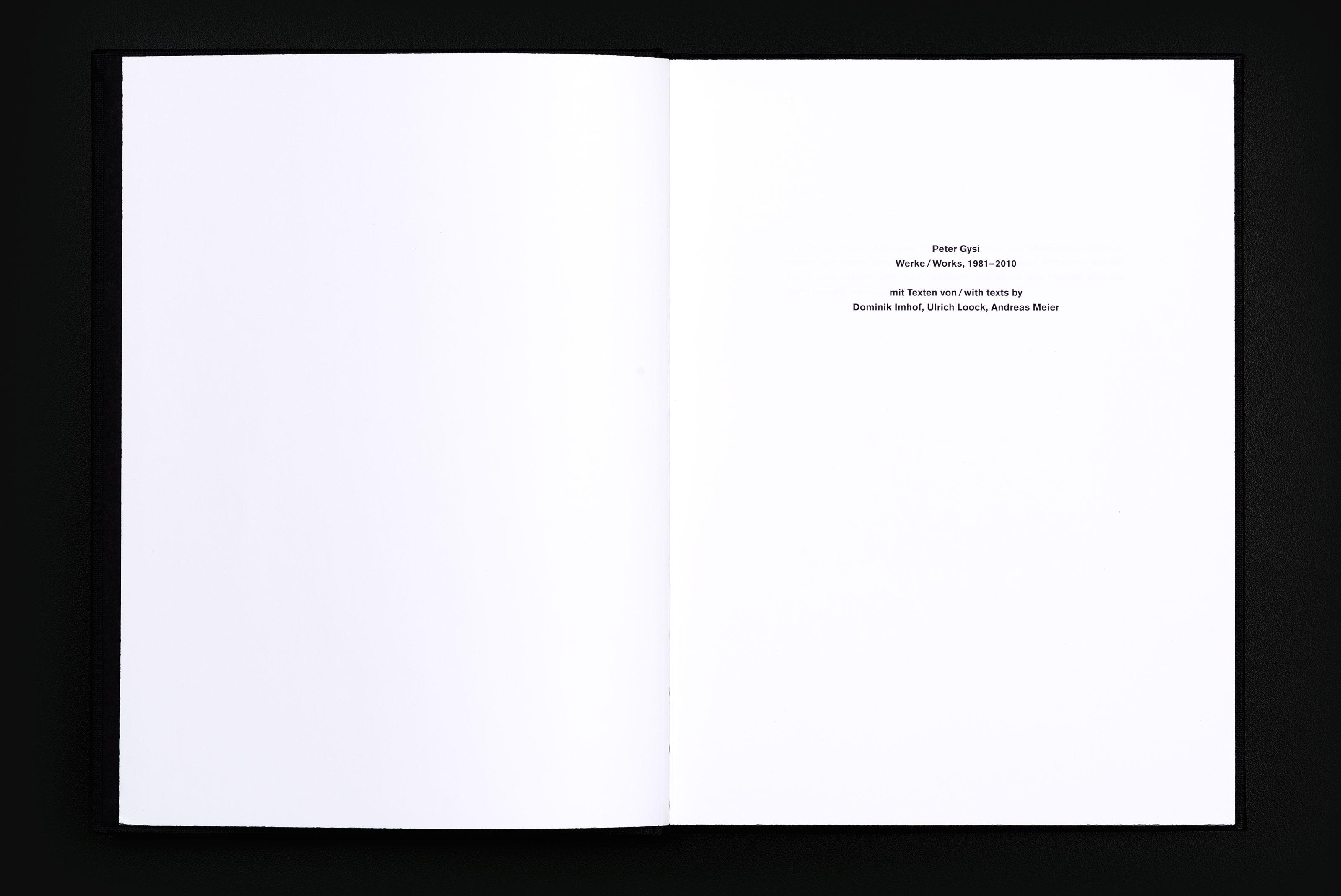 Peter Gysi – Monografie, title ©Atelier Pol × Barbara Hess
