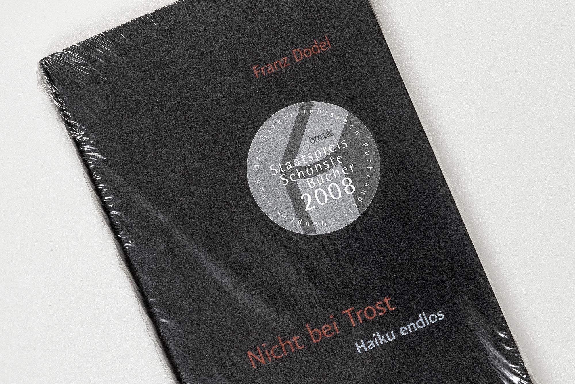 Frand Dodel – Nicht bei Trost, book cover ©Atelier Pol