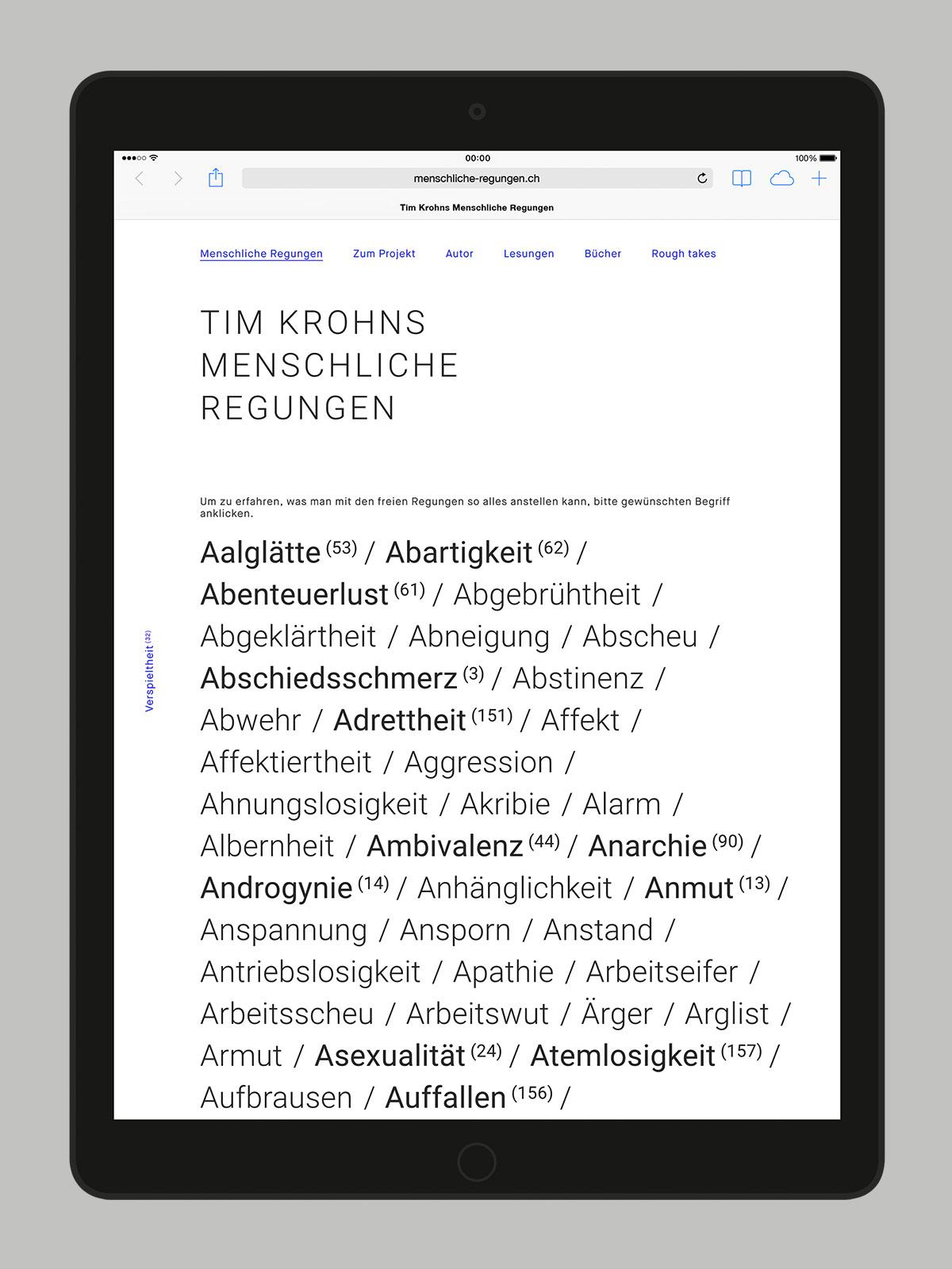 Tim Krohns Menschliche Regungen