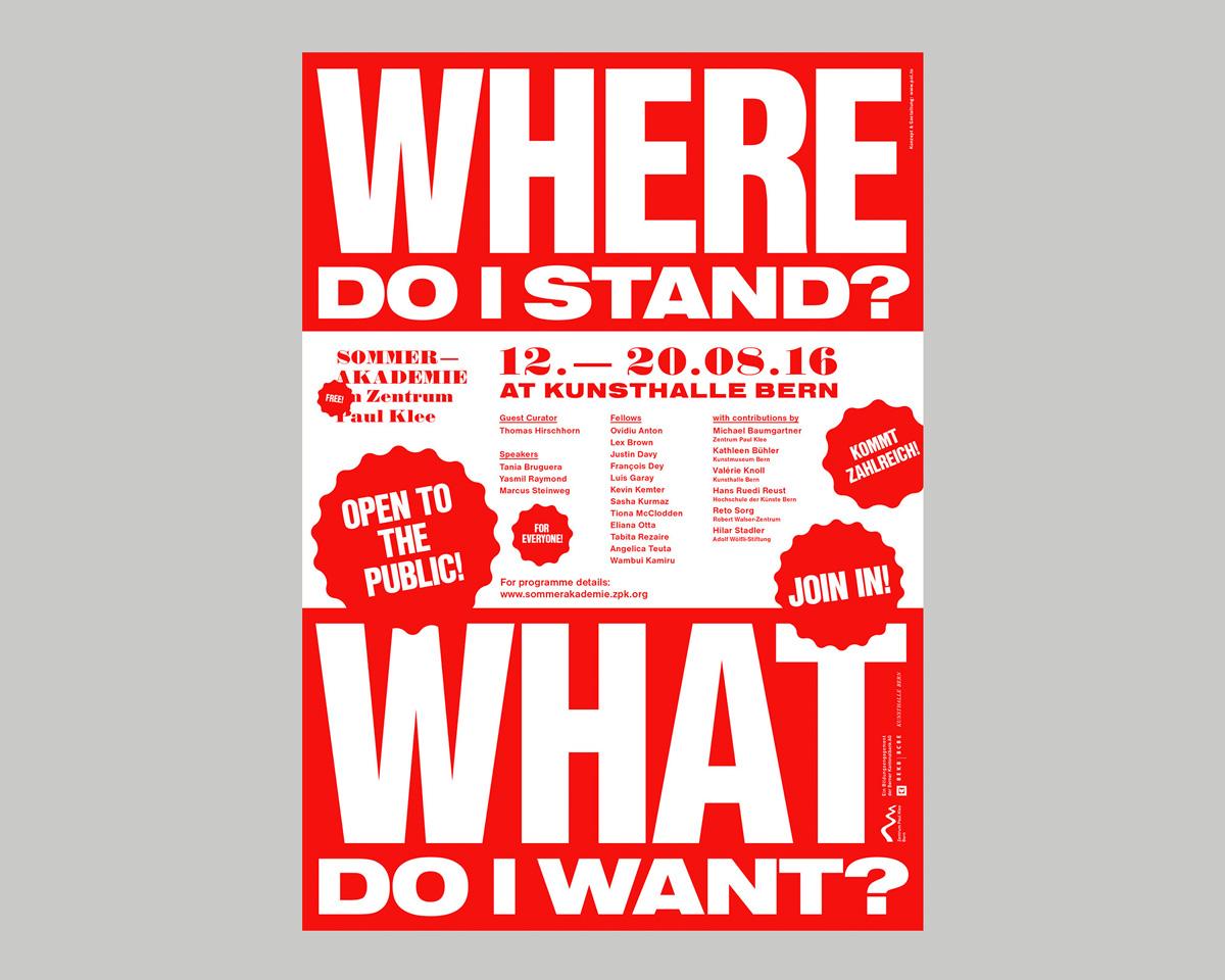Atelier Pol, Sommerakademie Zentrum Paul Klee 2016, poster, swiss graphic design studio bern