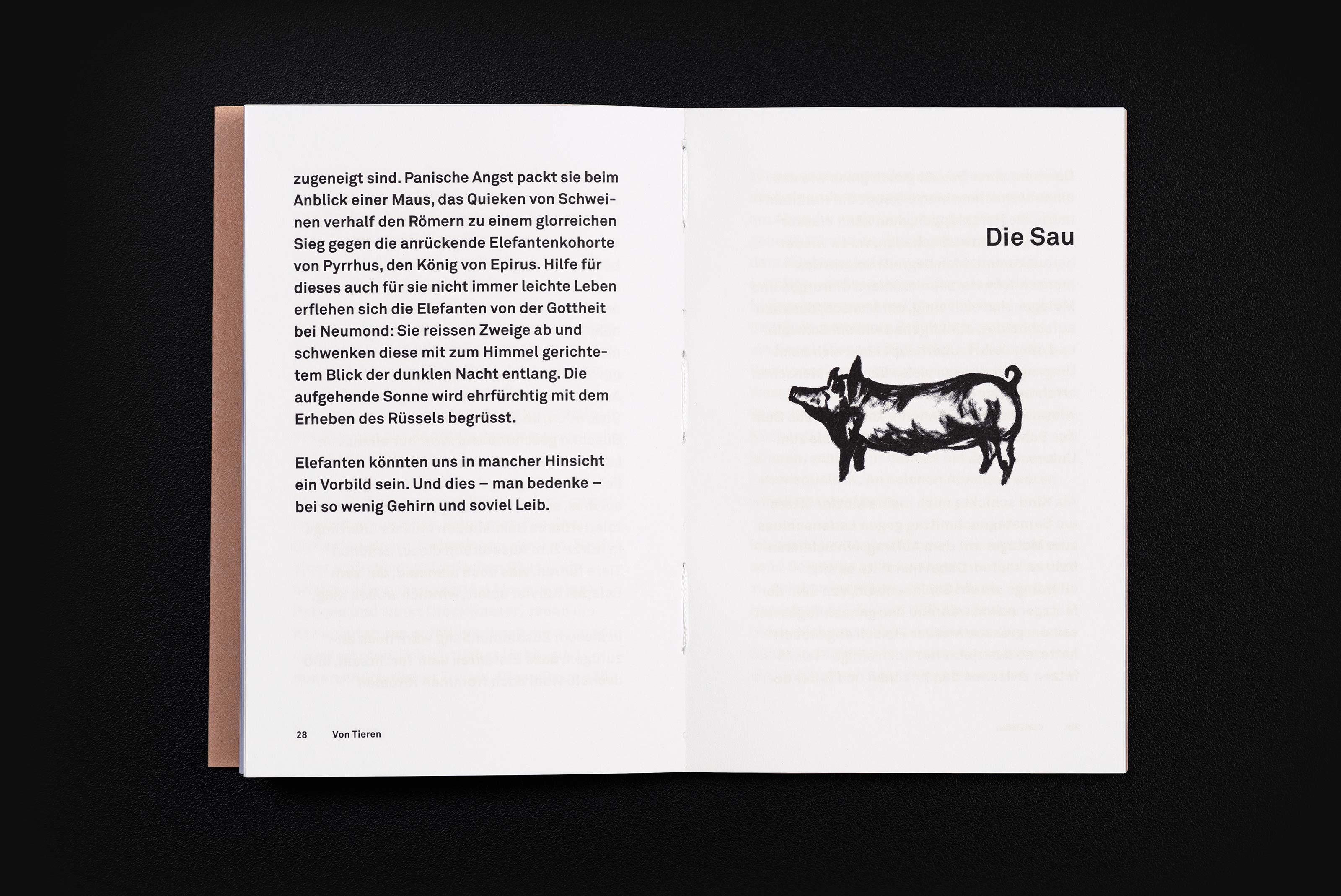 Frand Dodel – Von Tieren, content illustration ©Atelier Pol × Barbara Hess