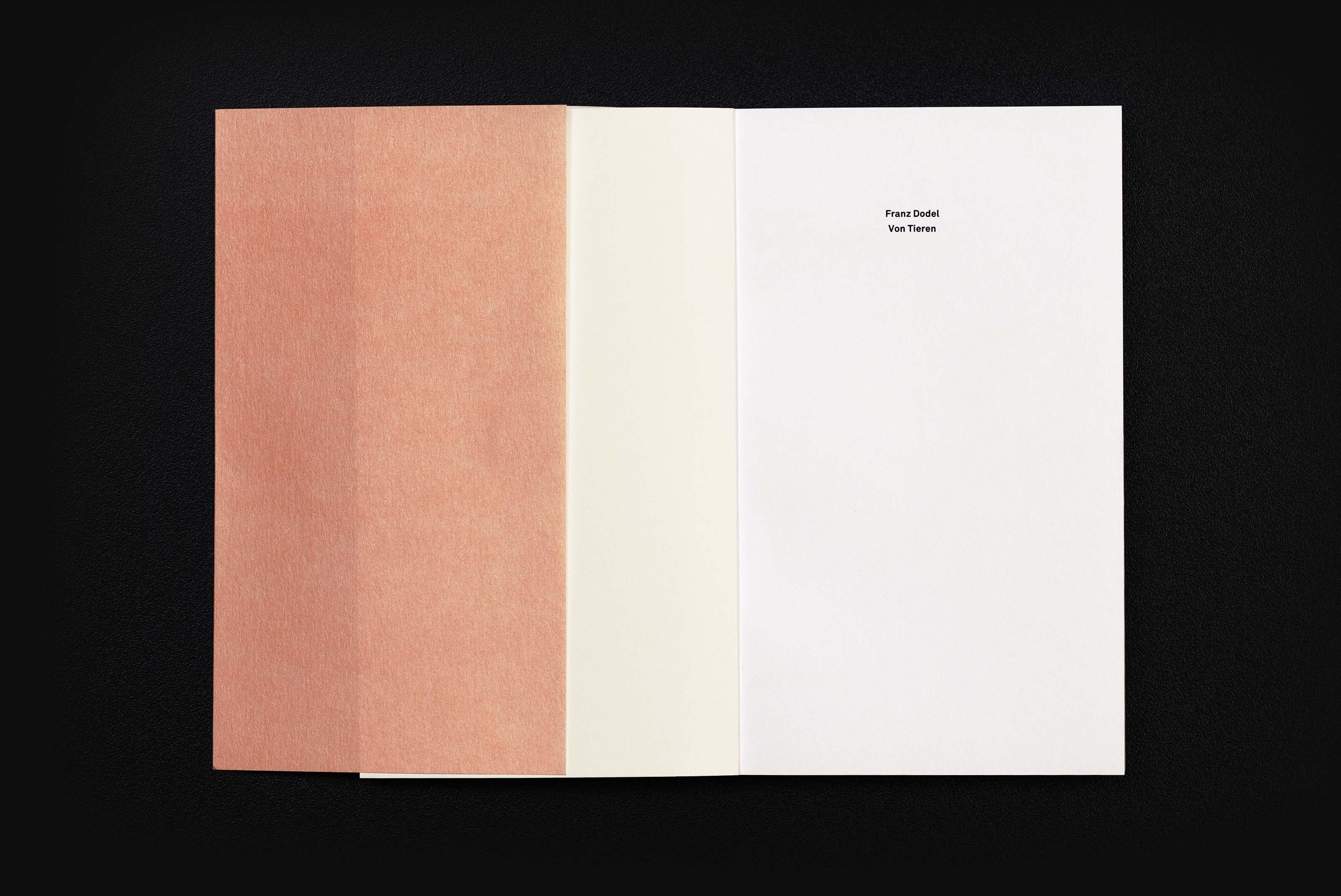 Frand Dodel – Von Tieren, title ©Atelier Pol × Barbara Hess