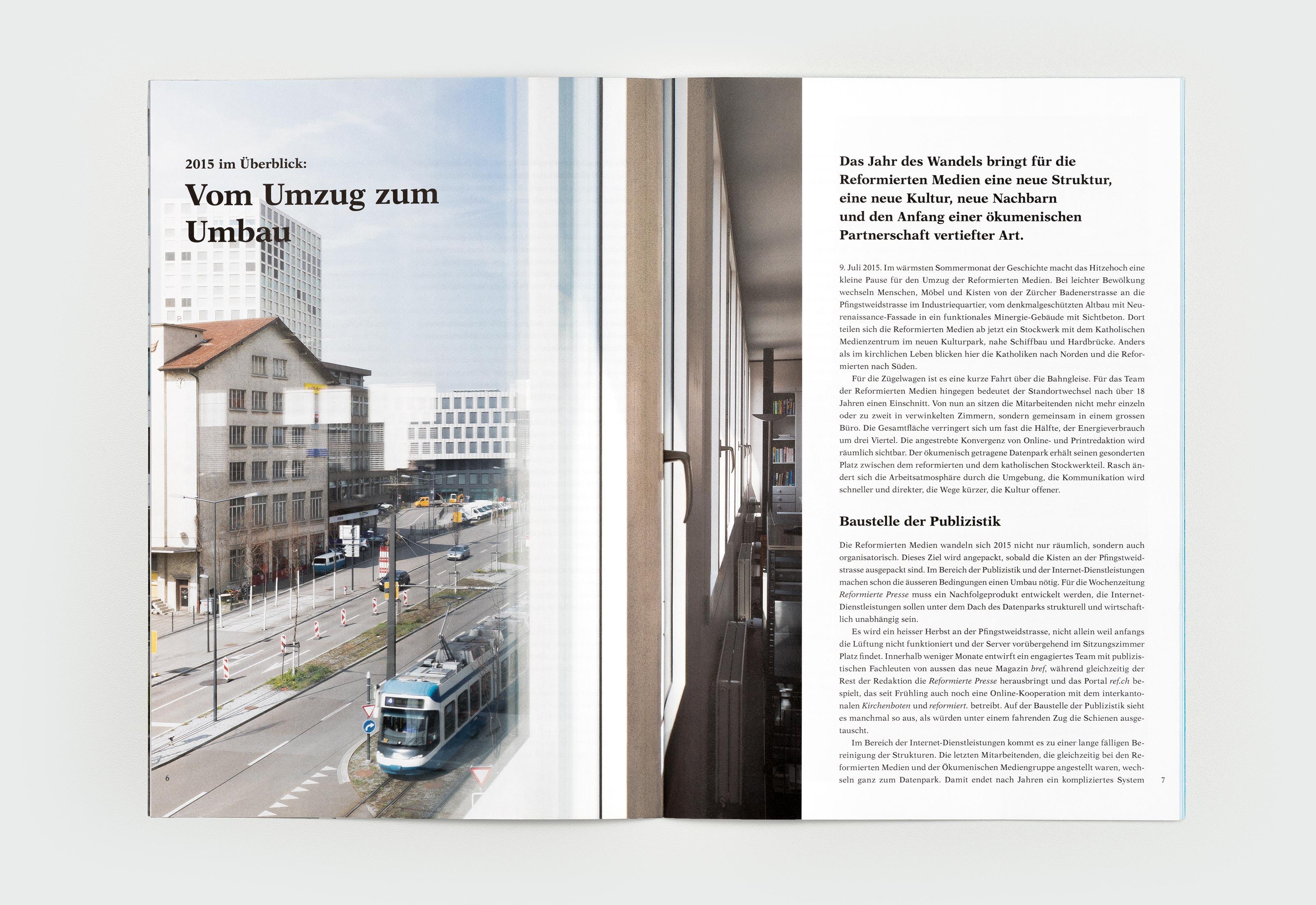 Reformierte Medien – Jahresbericht 2015, content ©Atelier Pol × Barbara Hess