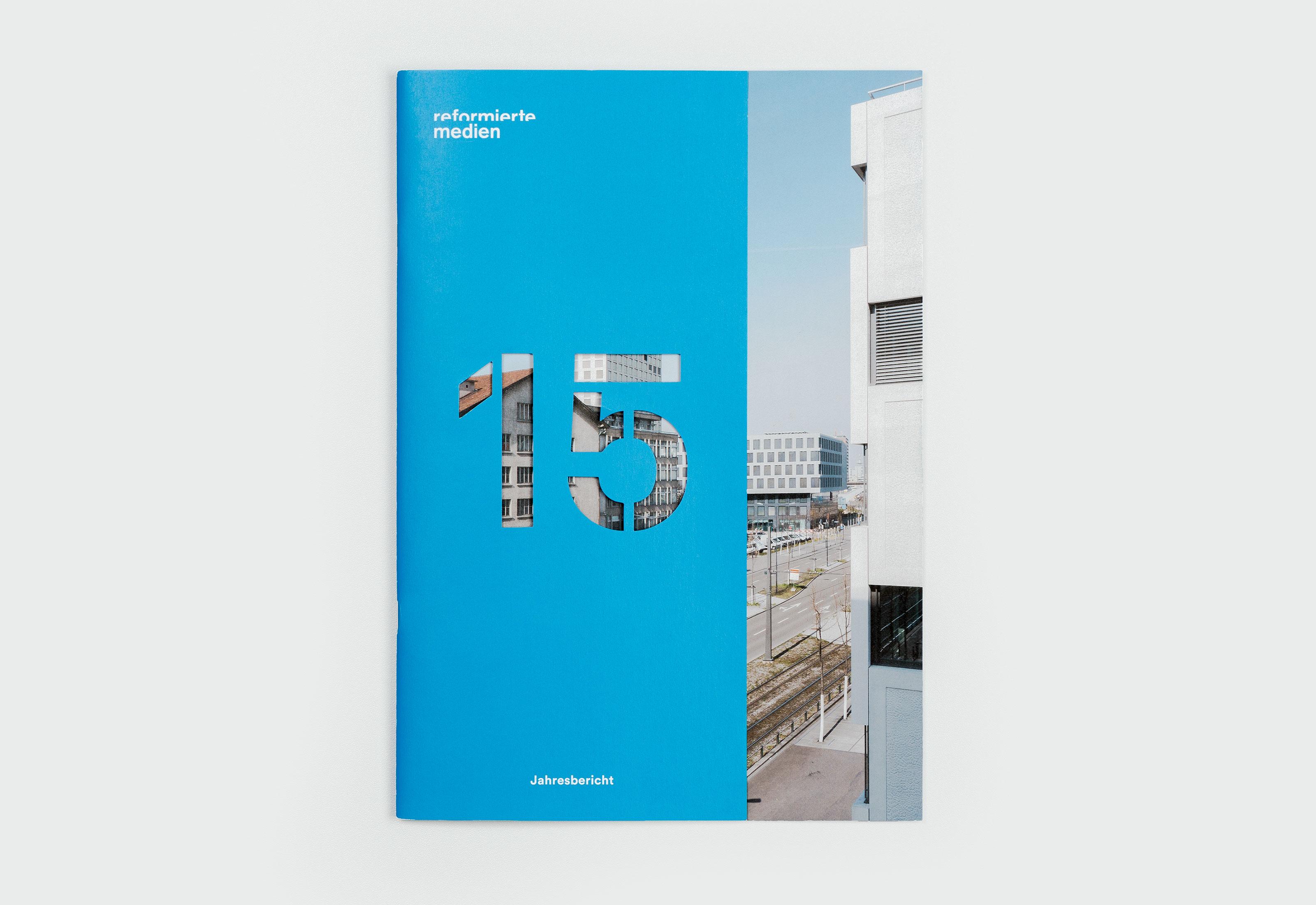 Reformierte Medien – Jahresbericht 2015, cover ©Atelier Pol × Barbara Hess