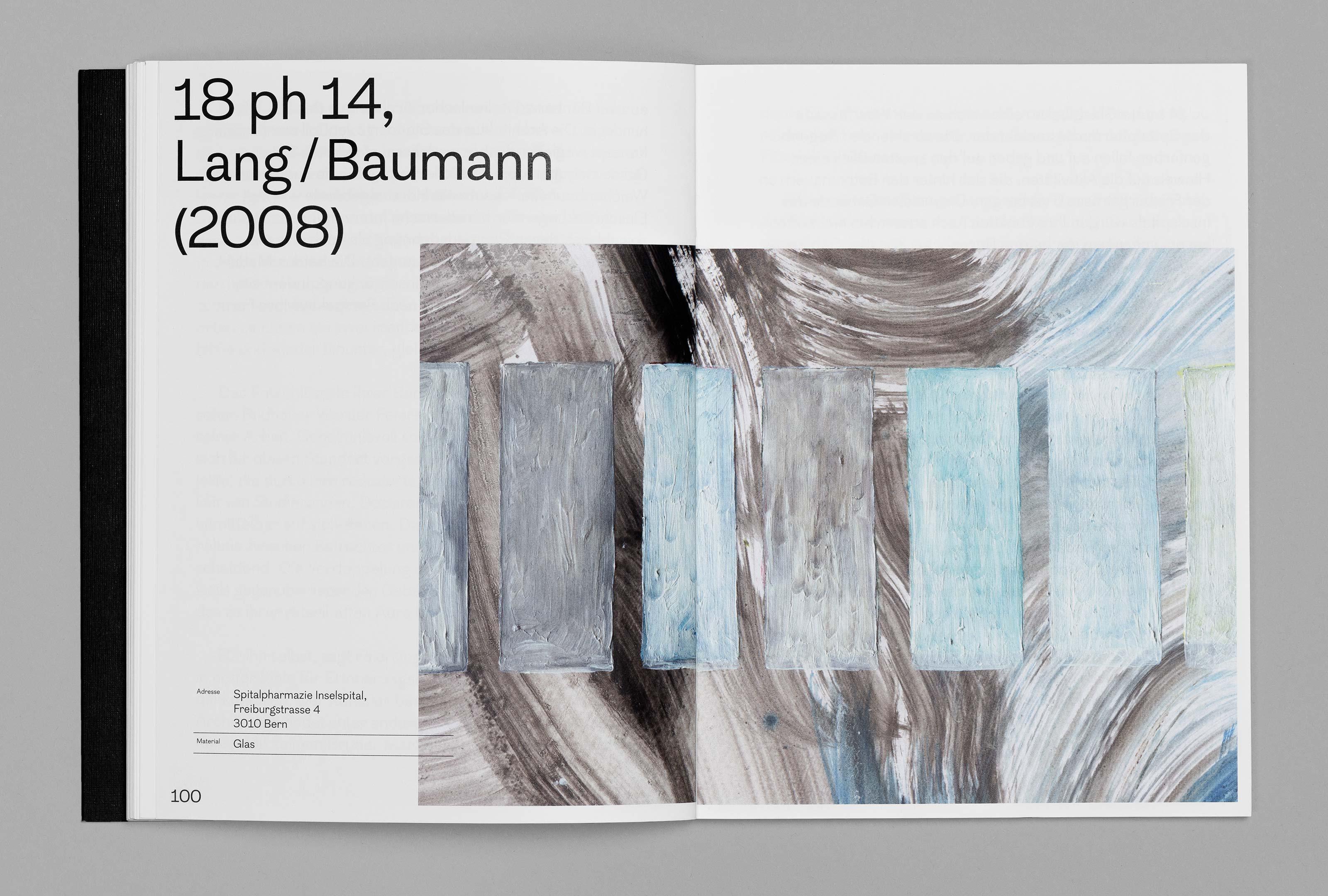 bePArt – Kunst im öffentlichen Raum Bern, spreads 100–101 ©Atelier Pol × Barbara Hess