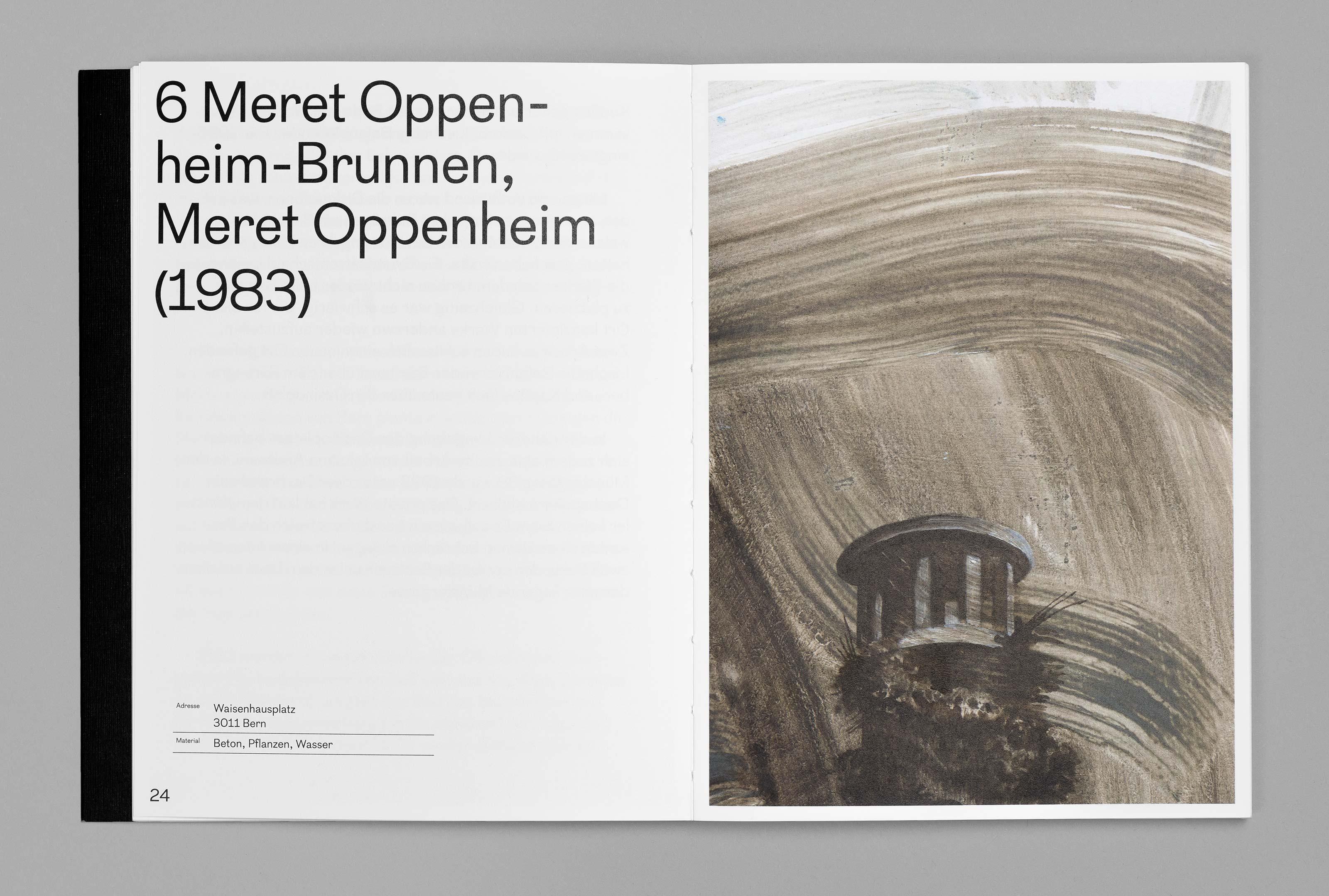 bePArt – Kunst im öffentlichen Raum Bern, spreads 24–25 ©Atelier Pol × Barbara Hess