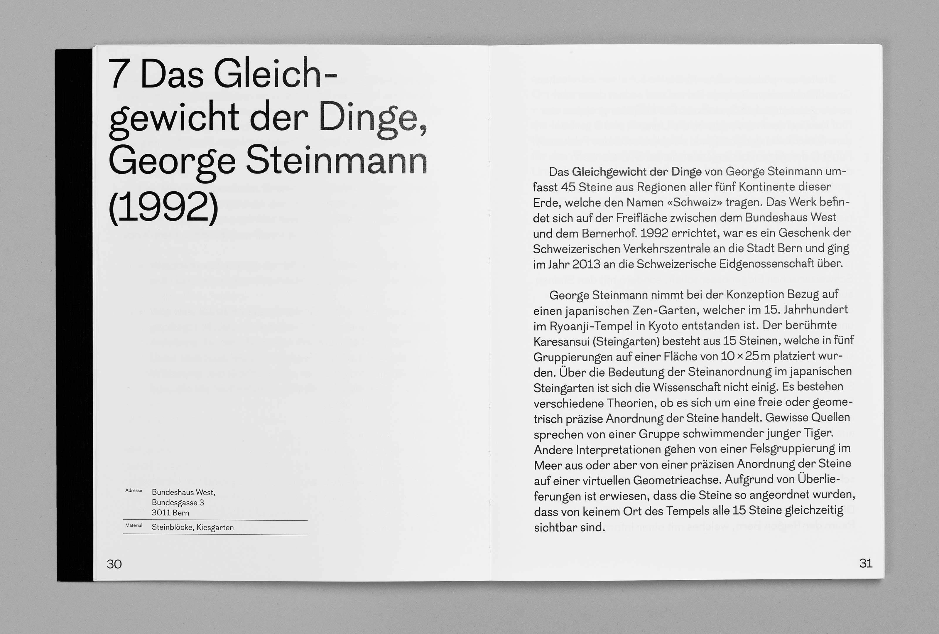 bePArt – Kunst im öffentlichen Raum Bern, spreads 30–31 ©Atelier Pol × Barbara Hess