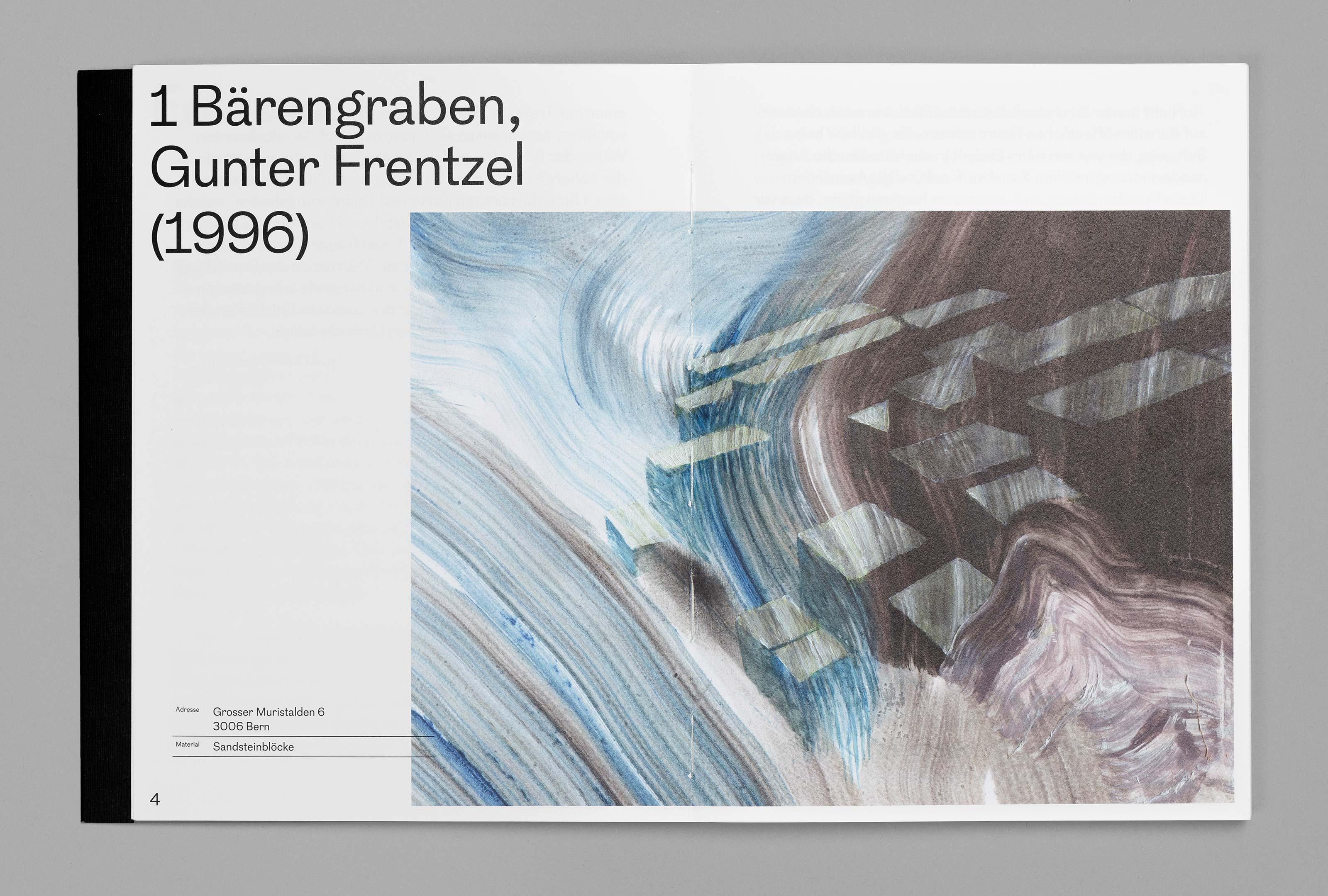 bePArt – Kunst im öffentlichen Raum Bern, spreads 4–5 ©Atelier Pol × Barbara Hess