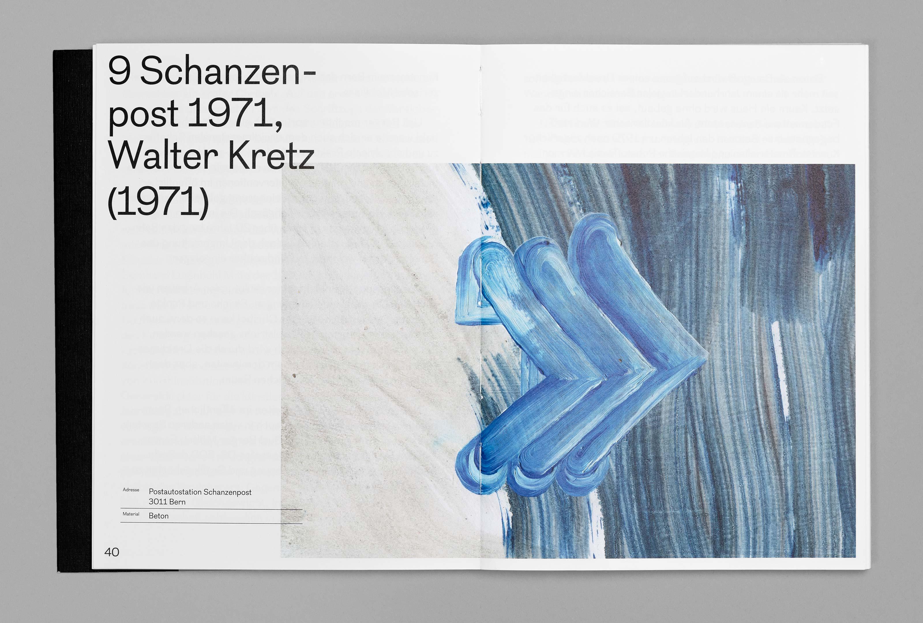 bePArt – Kunst im öffentlichen Raum Bern, spreads 40–41 ©Atelier Pol × Barbara Hess