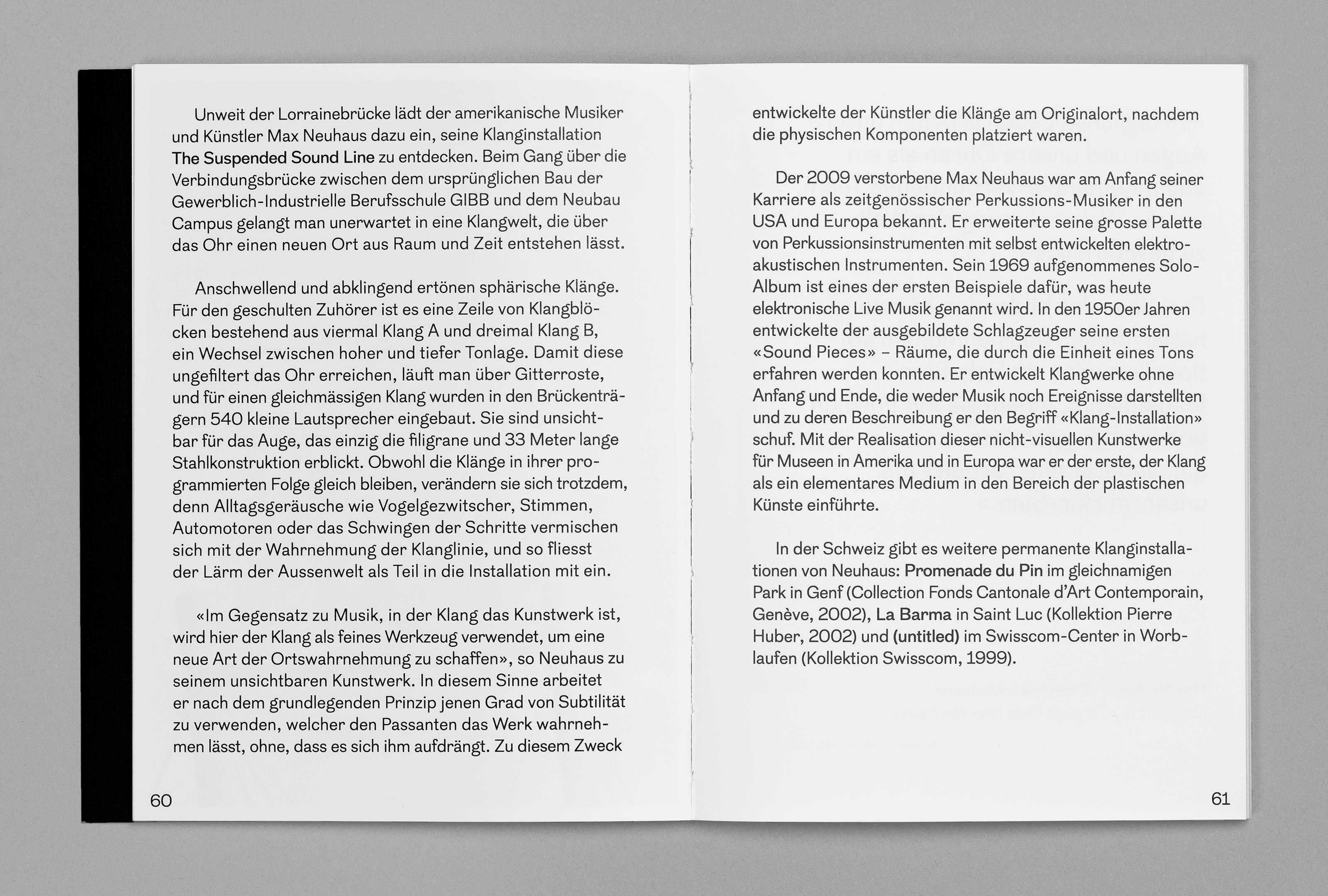 bePArt – Kunst im öffentlichen Raum Bern, spreads 60–61 ©Atelier Pol × Barbara Hess