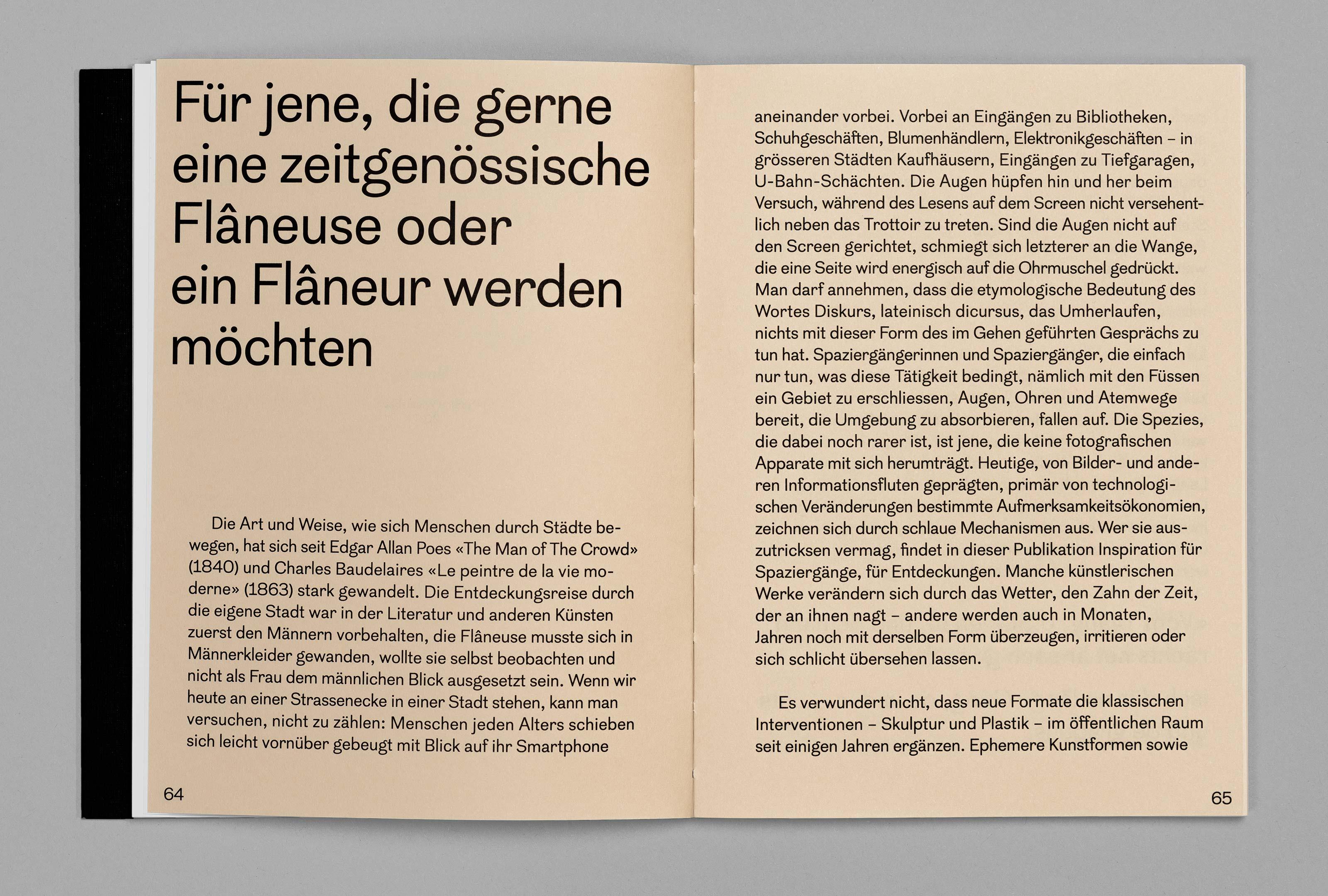 bePArt – Kunst im öffentlichen Raum Bern, spreads 64–65 ©Atelier Pol × Barbara Hess