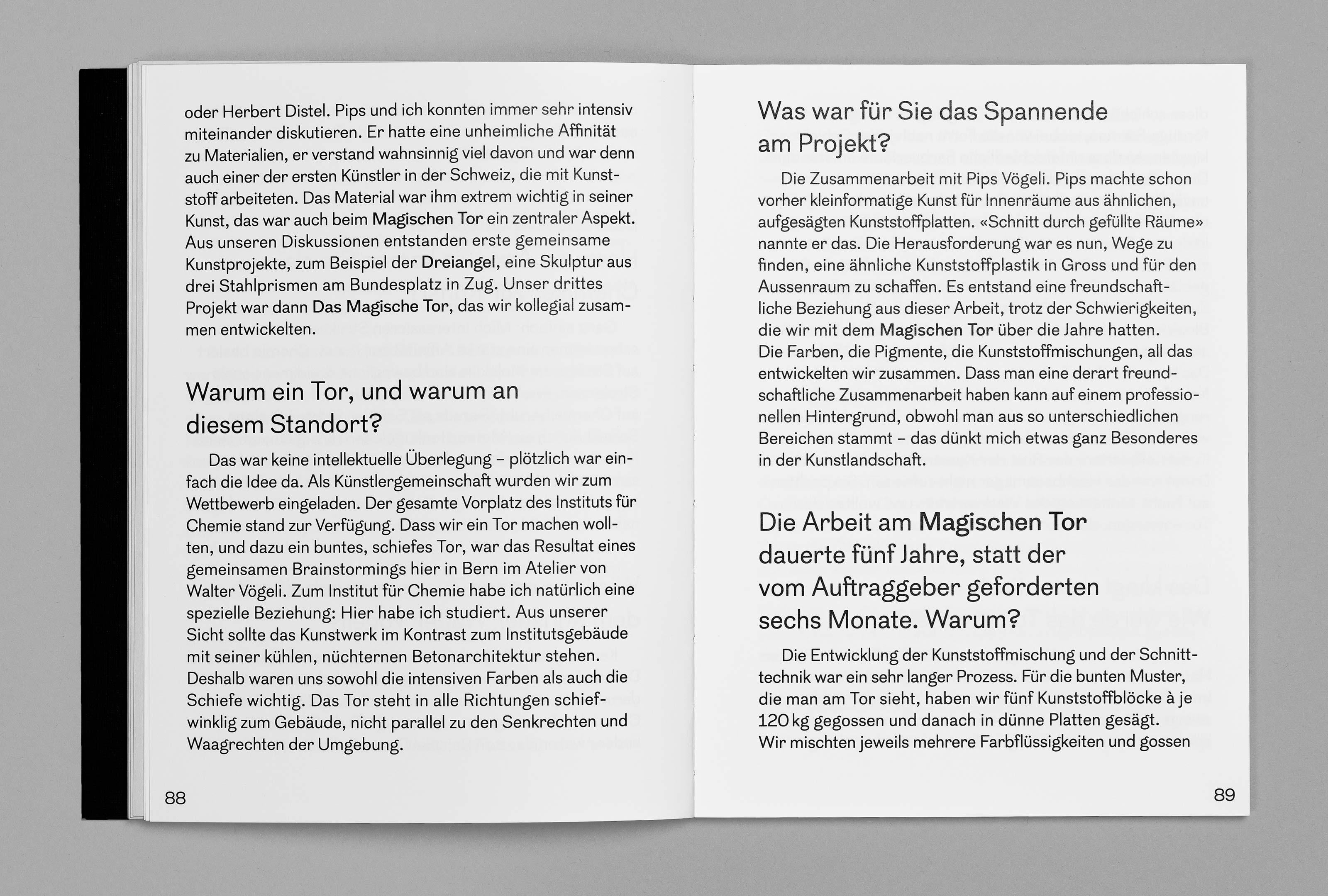 bePArt – Kunst im öffentlichen Raum Bern, spreads 88–89 ©Atelier Pol × Barbara Hess
