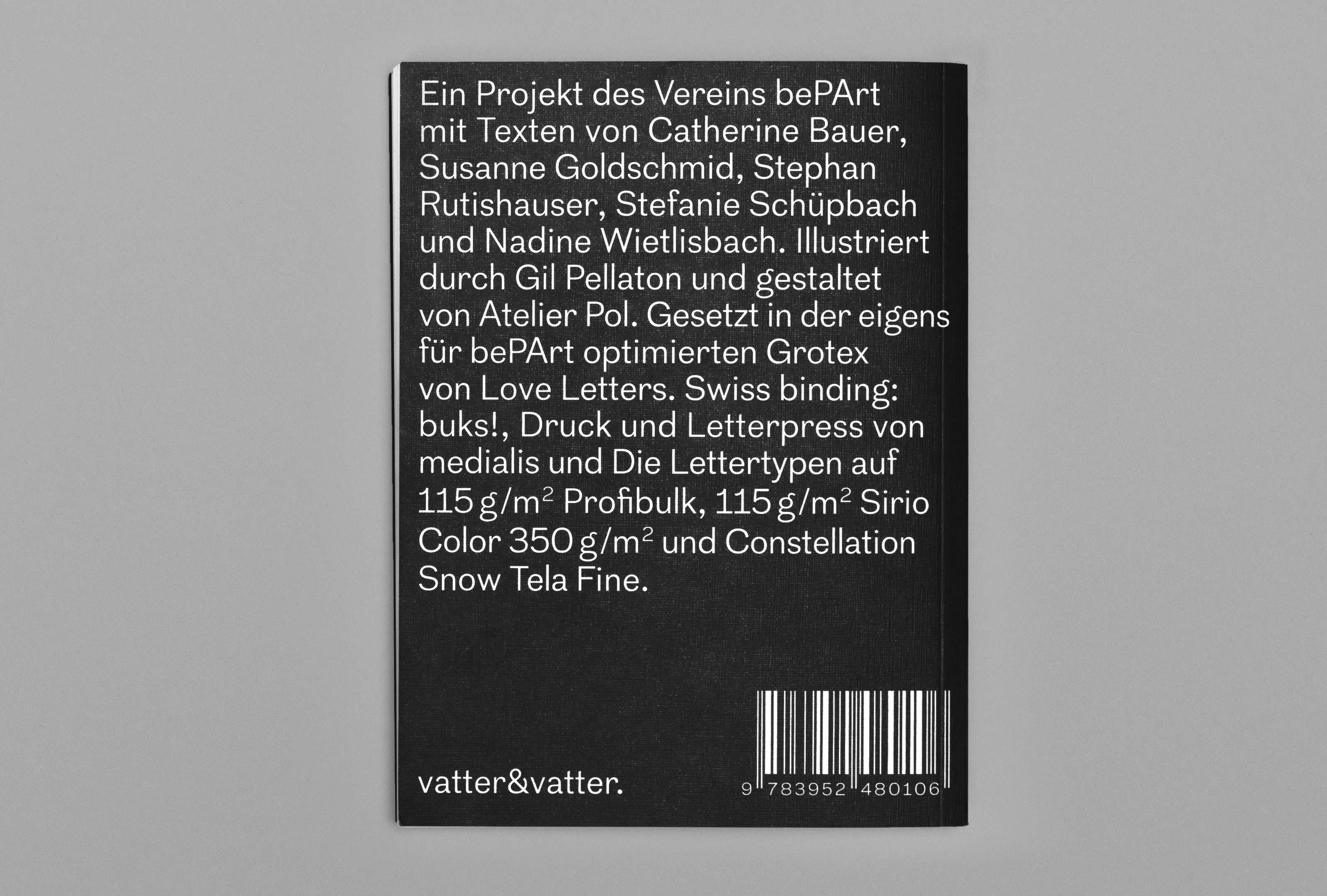 bePArt – Kunst im öffentlichen Raum Bern, cover back ©Atelier Pol × Barbara Hess