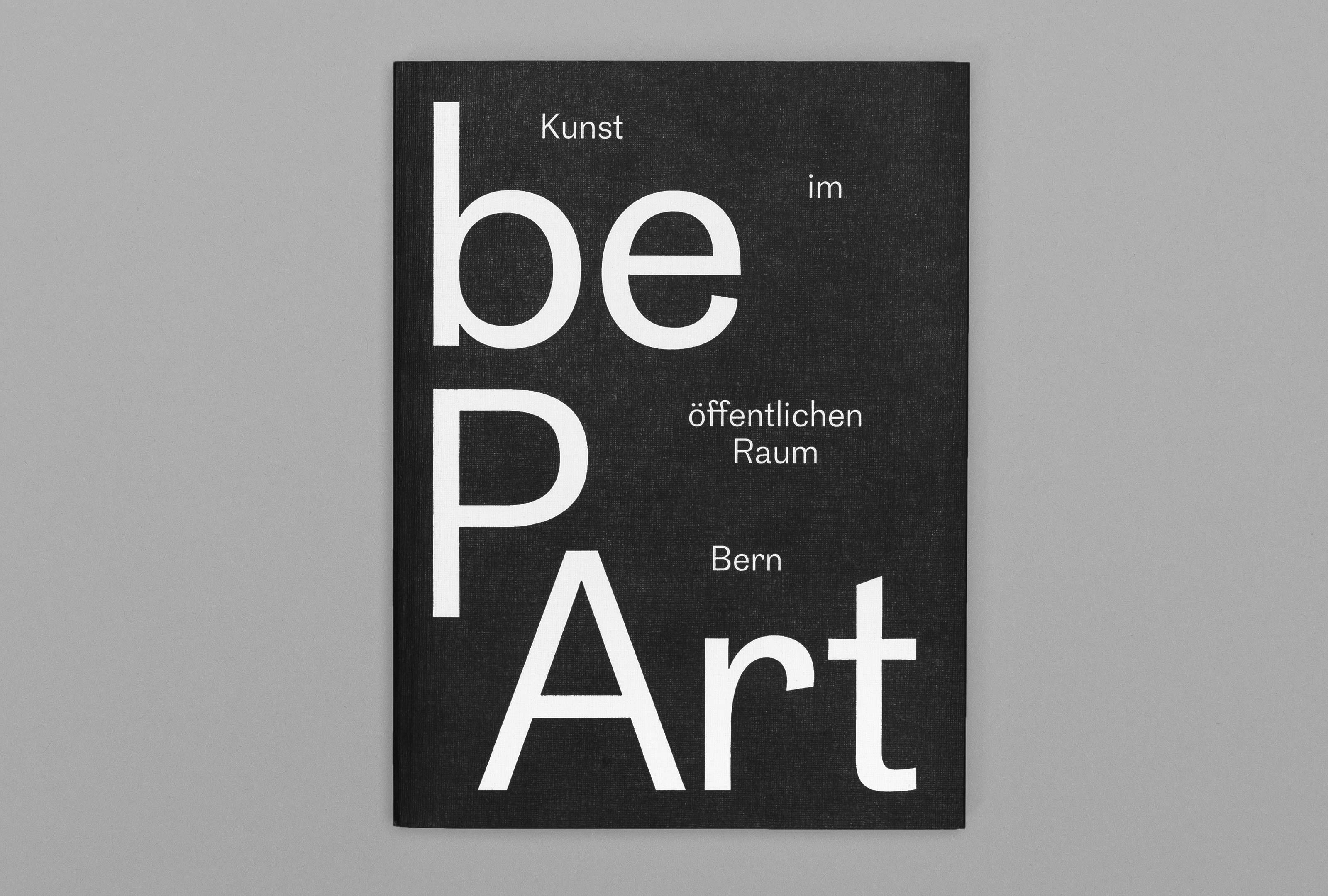 bePArt – Kunst im öffentlichen Raum Bern, cover front ©Atelier Pol × Barbara Hess