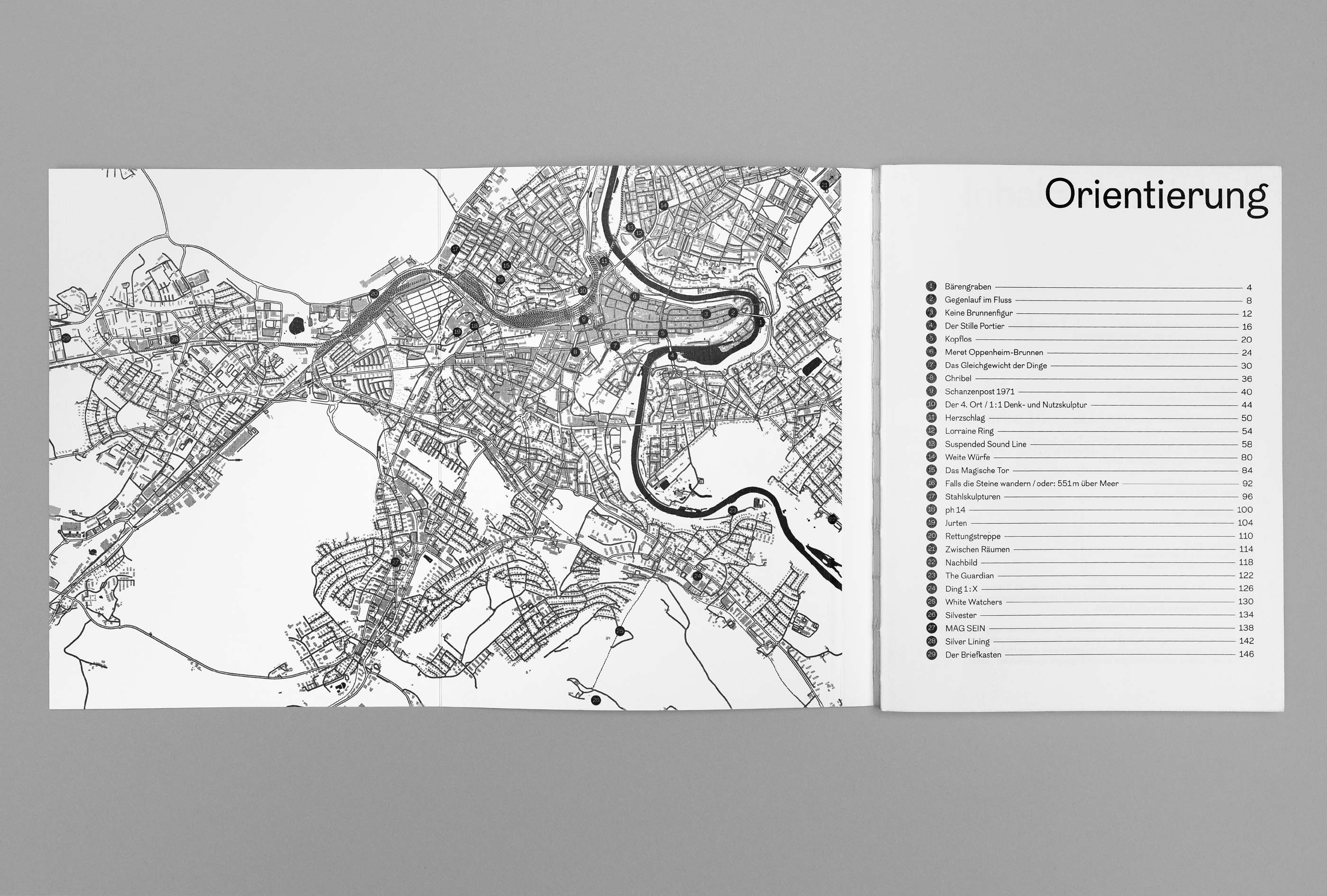 bePArt – Kunst im öffentlichen Raum Bern, orientation + map ©Atelier Pol × Barbara Hess