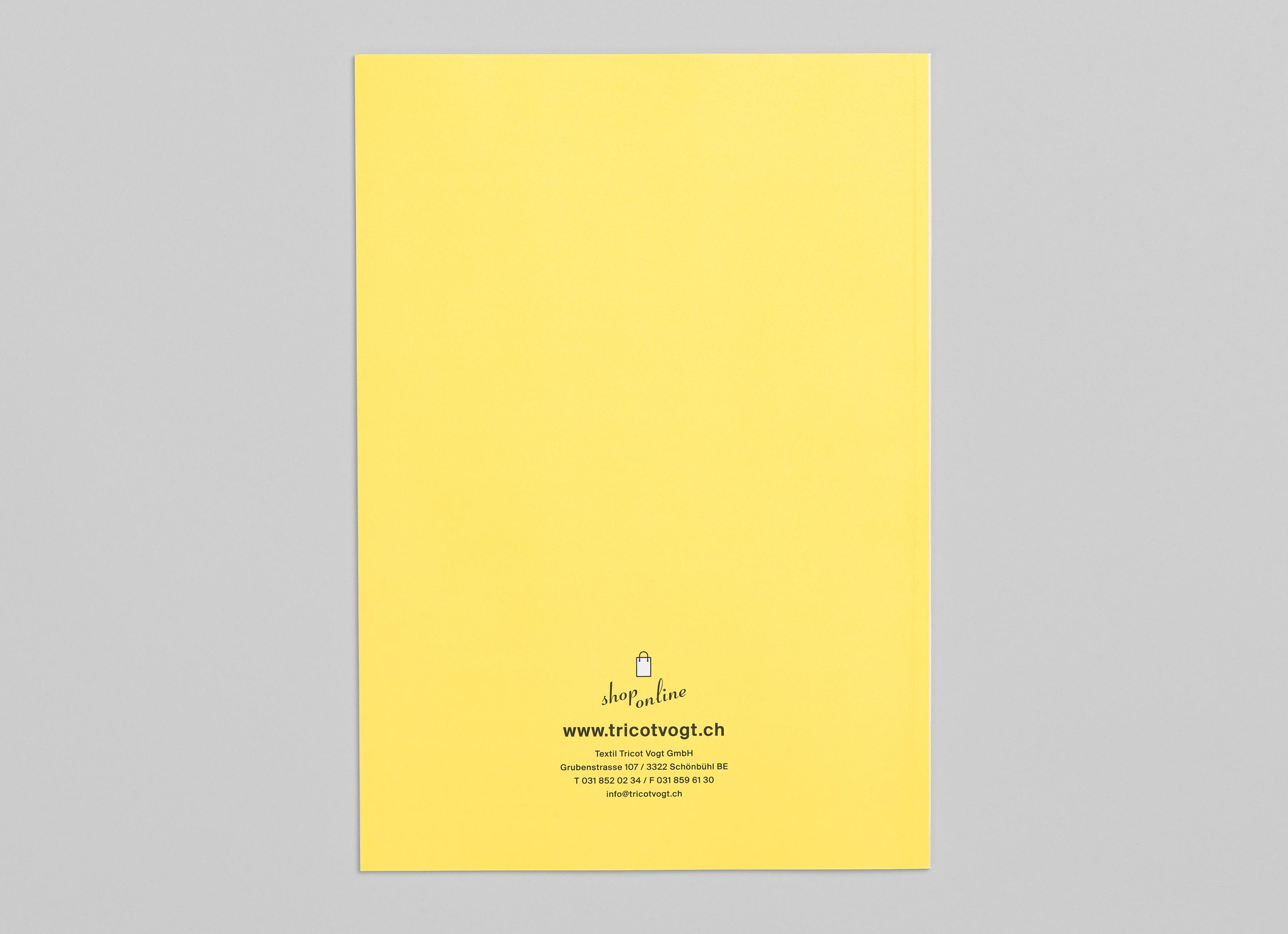 Textil Tricot Vogt – Katalog 2017/18, back ©Atelier Pol × Barbara Hess