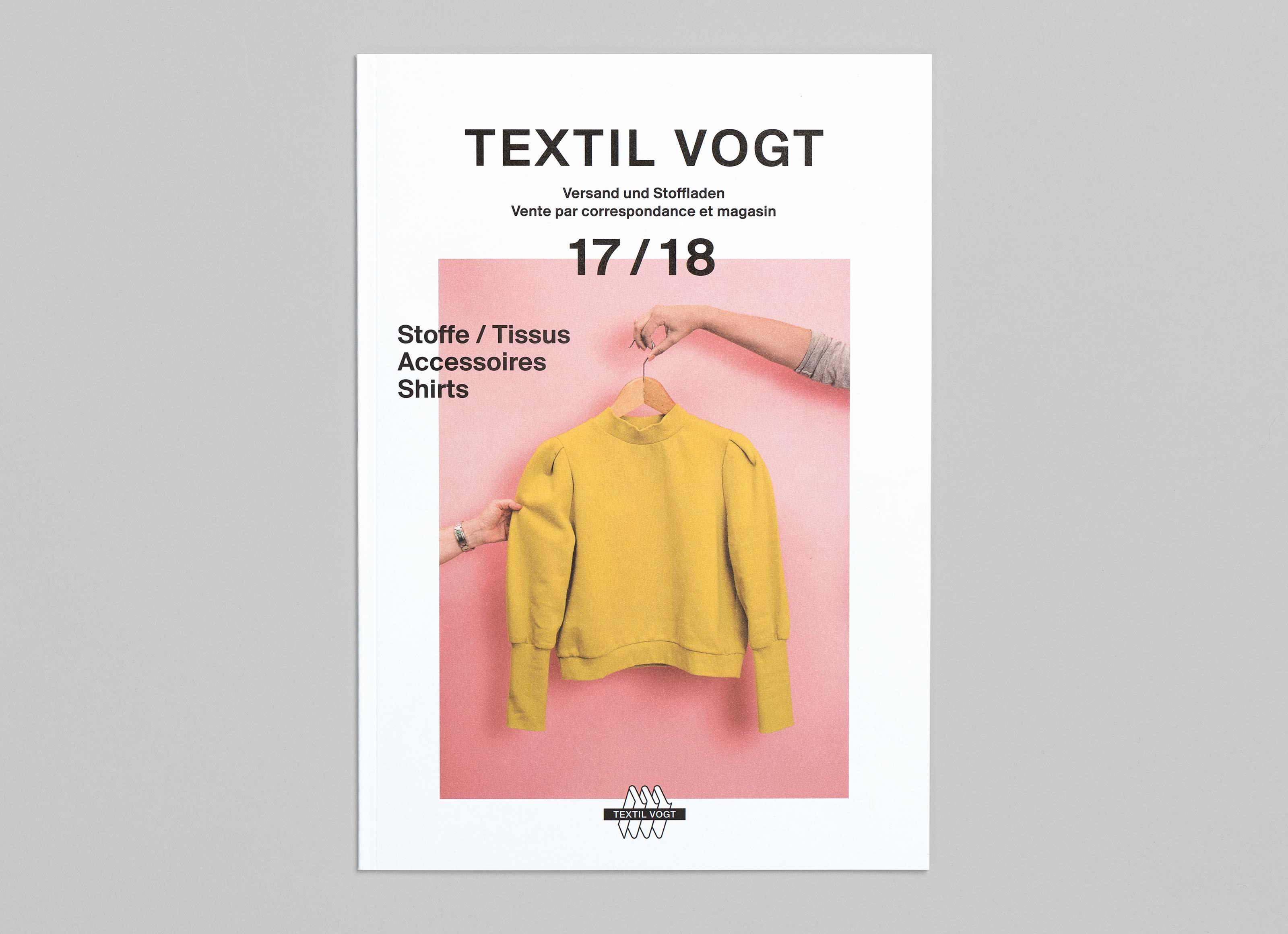 Textil Tricot Vogt – Katalog 2017/18, front ©Atelier Pol × Barbara Hess