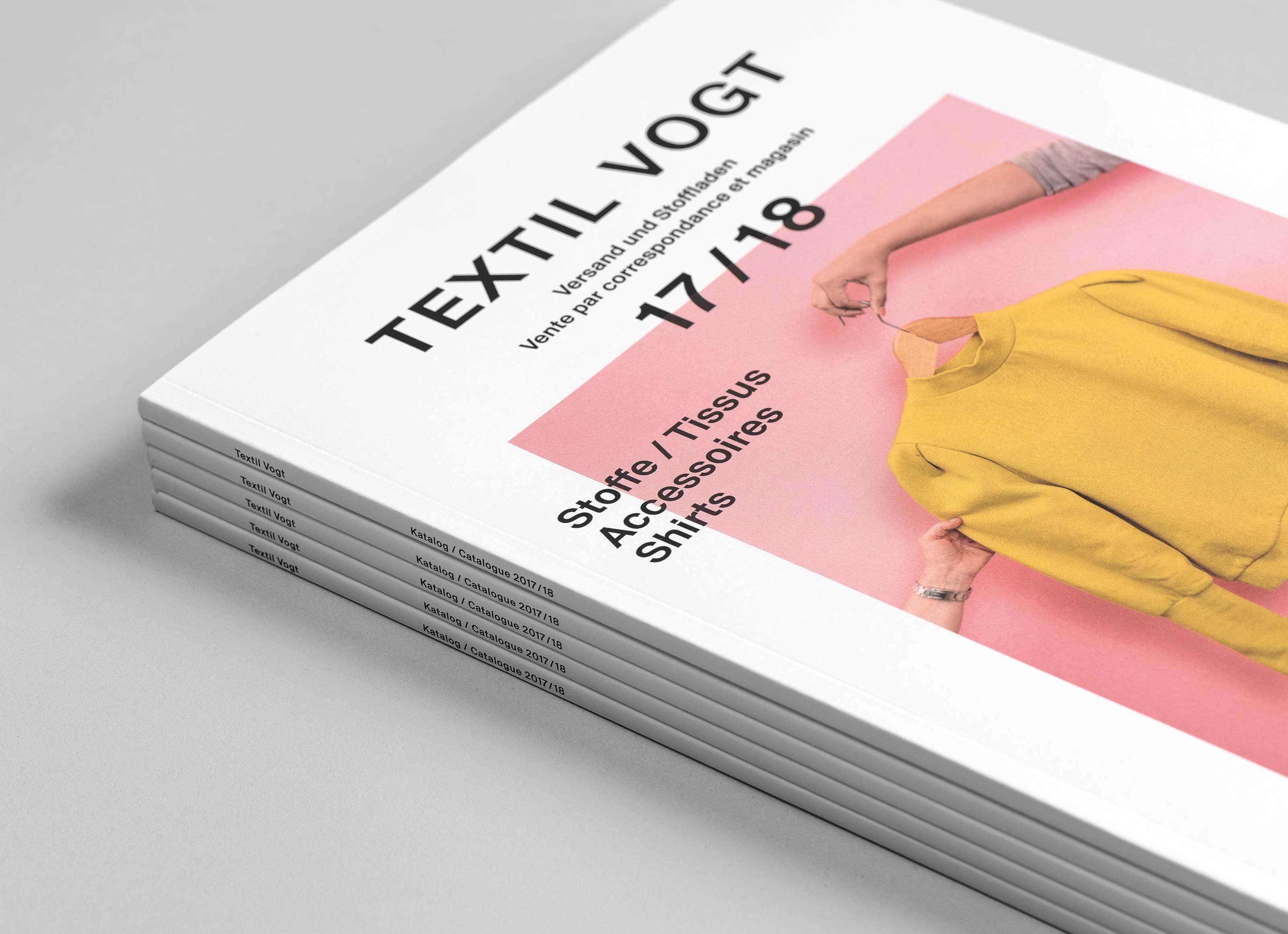 Textil Tricot Vogt – Katalog 2017/18, stack ©Atelier Pol × Barbara Hess