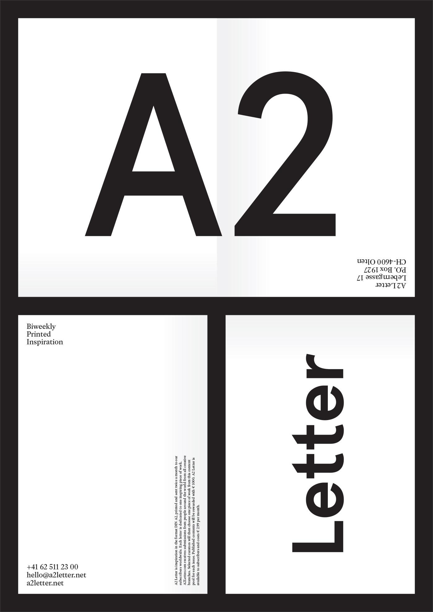 A2 Letter Poster, letter  ©Atelier Pol