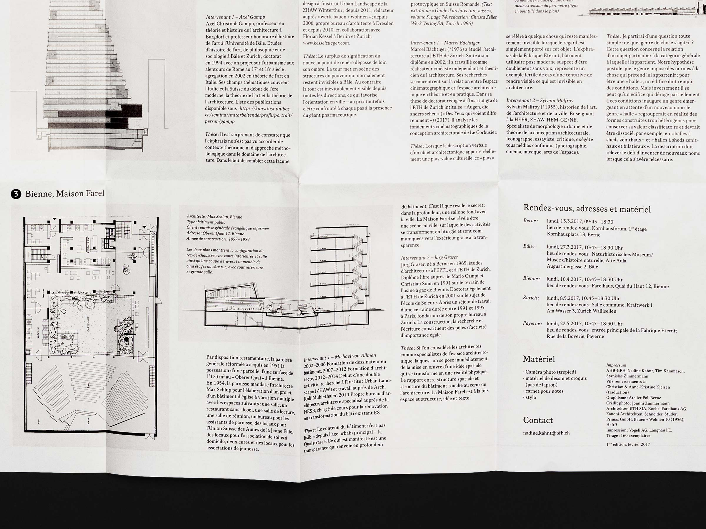 Berner Fachhochschule – Joint Master in Architecture - map, detail 02 ©Atelier Pol × Barbara Hess