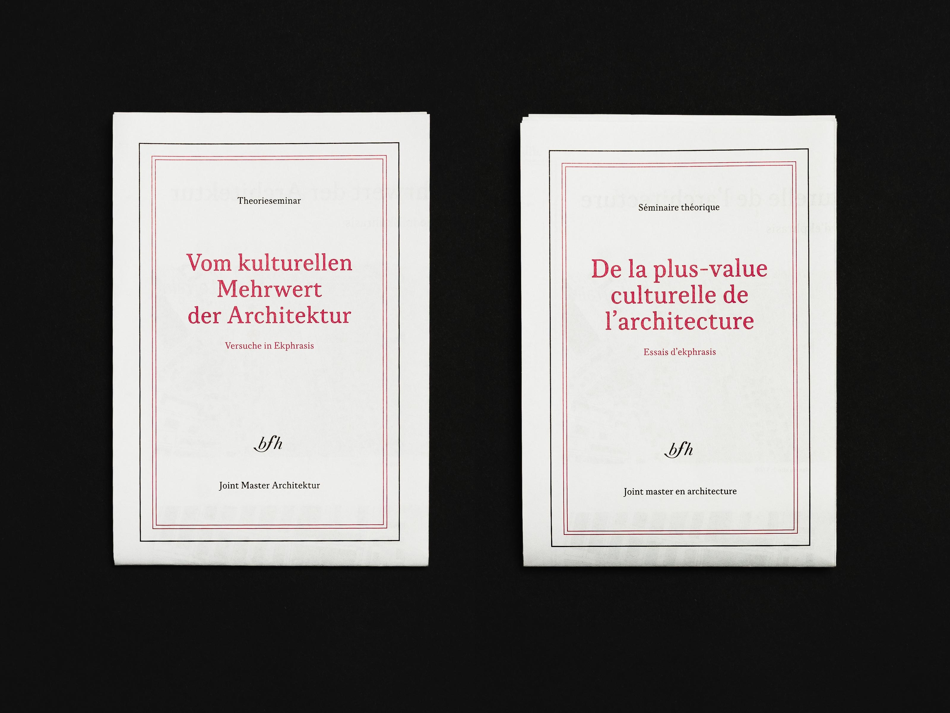 Berner Fachhochschule – Joint Master in Architecture - map, front ©Atelier Pol × Barbara Hess