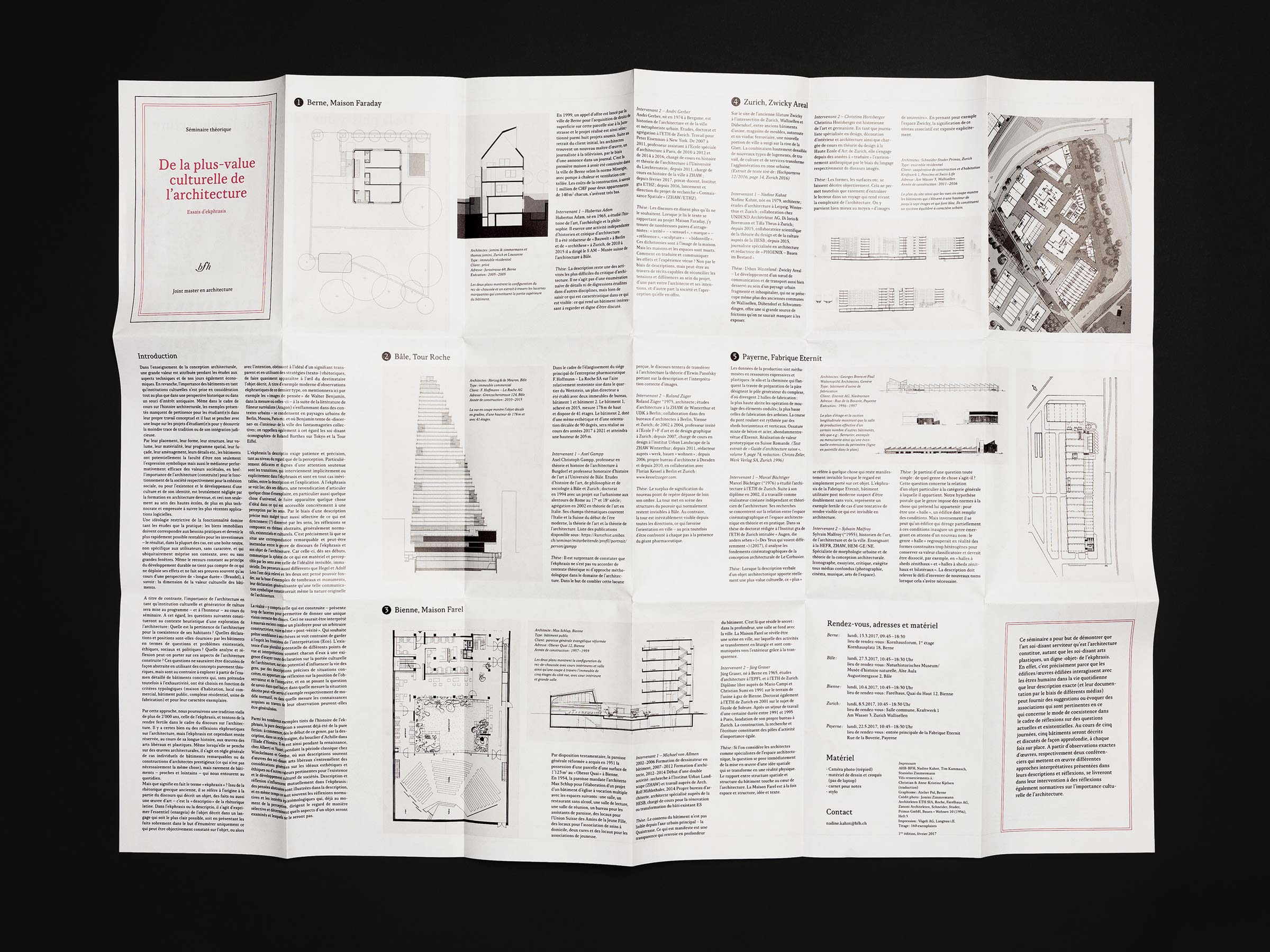 Berner Fachhochschule – Joint Master in Architecture - map, verso ©Atelier Pol × Barbara Hess