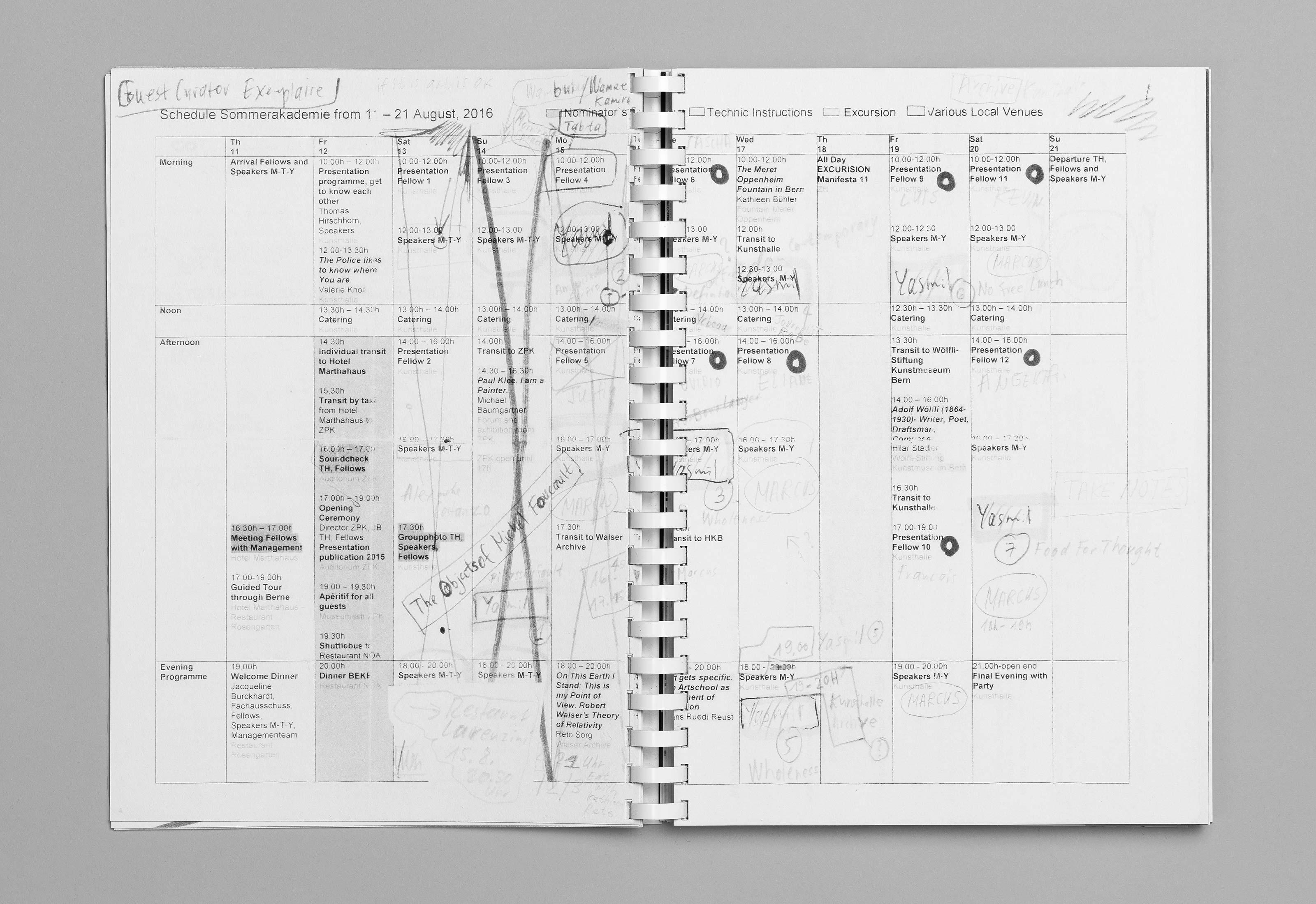Sommerakademie im Zentrum Paul Klee 2016 – Publikation Thomas Hirschhorn, 05  ©Atelier Pol