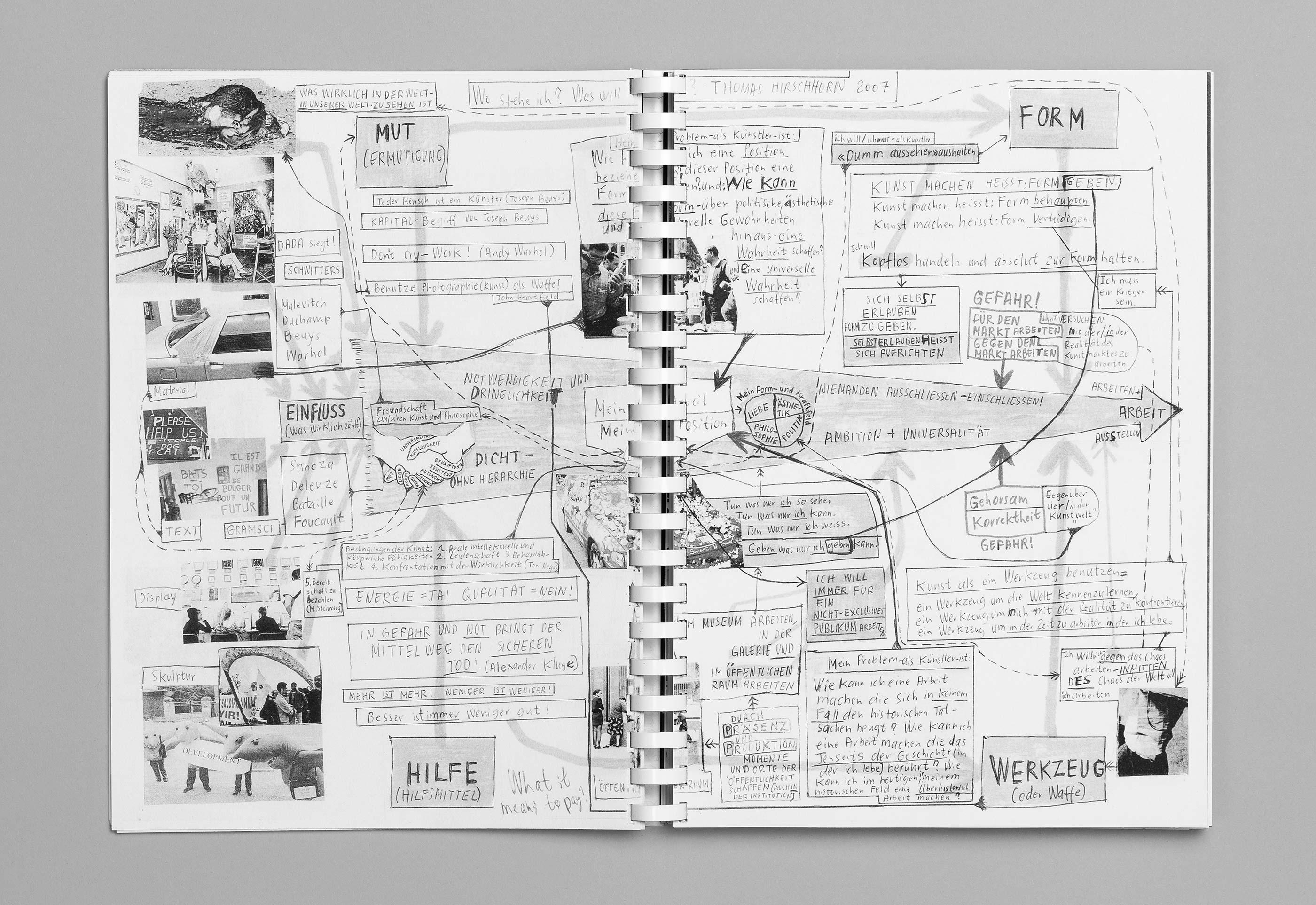 Sommerakademie im Zentrum Paul Klee 2016 – Publikation Thomas Hirschhorn, 07  ©Atelier Pol