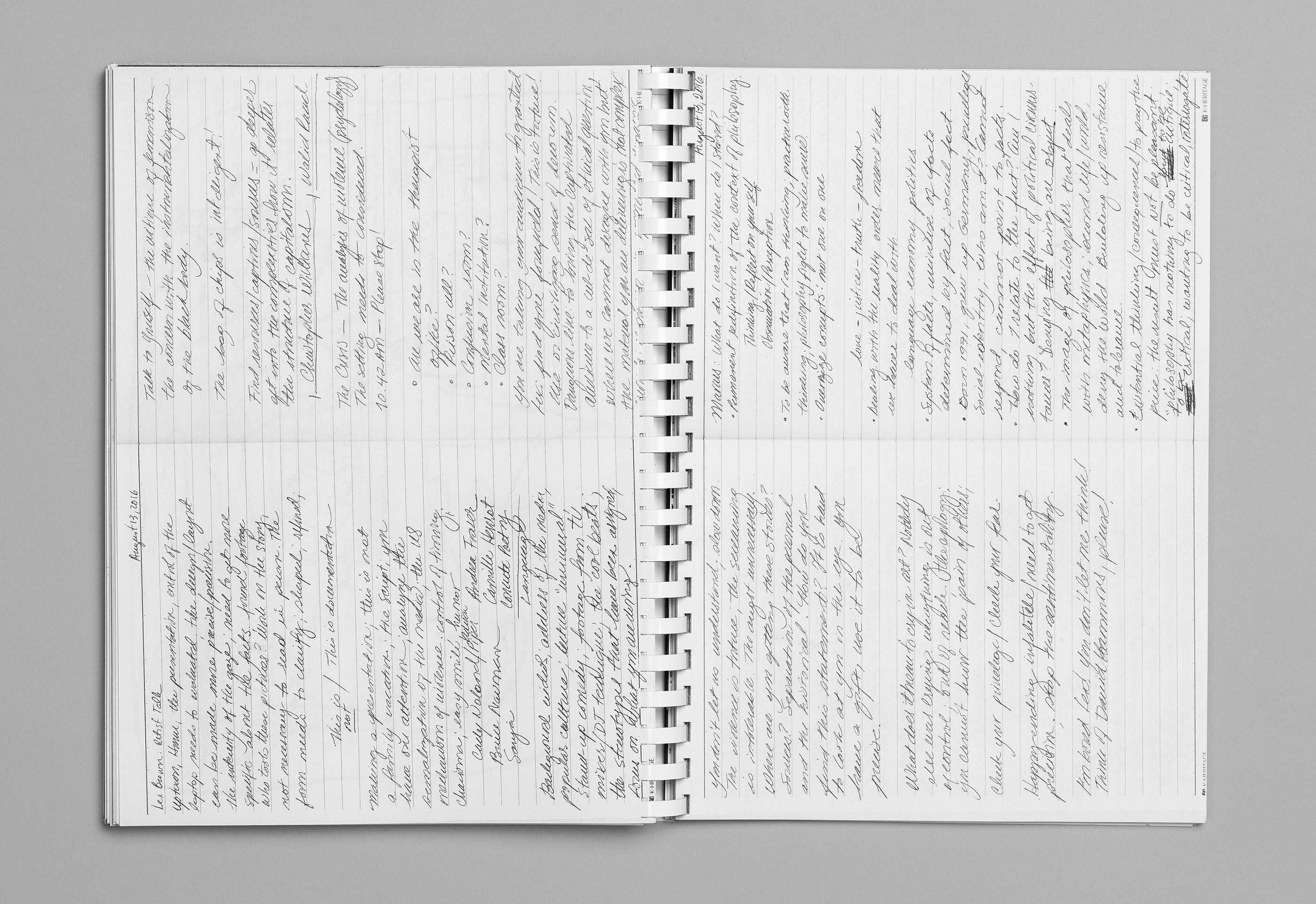 Sommerakademie im Zentrum Paul Klee 2016 – Publikation Thomas Hirschhorn, 12  ©Atelier Pol