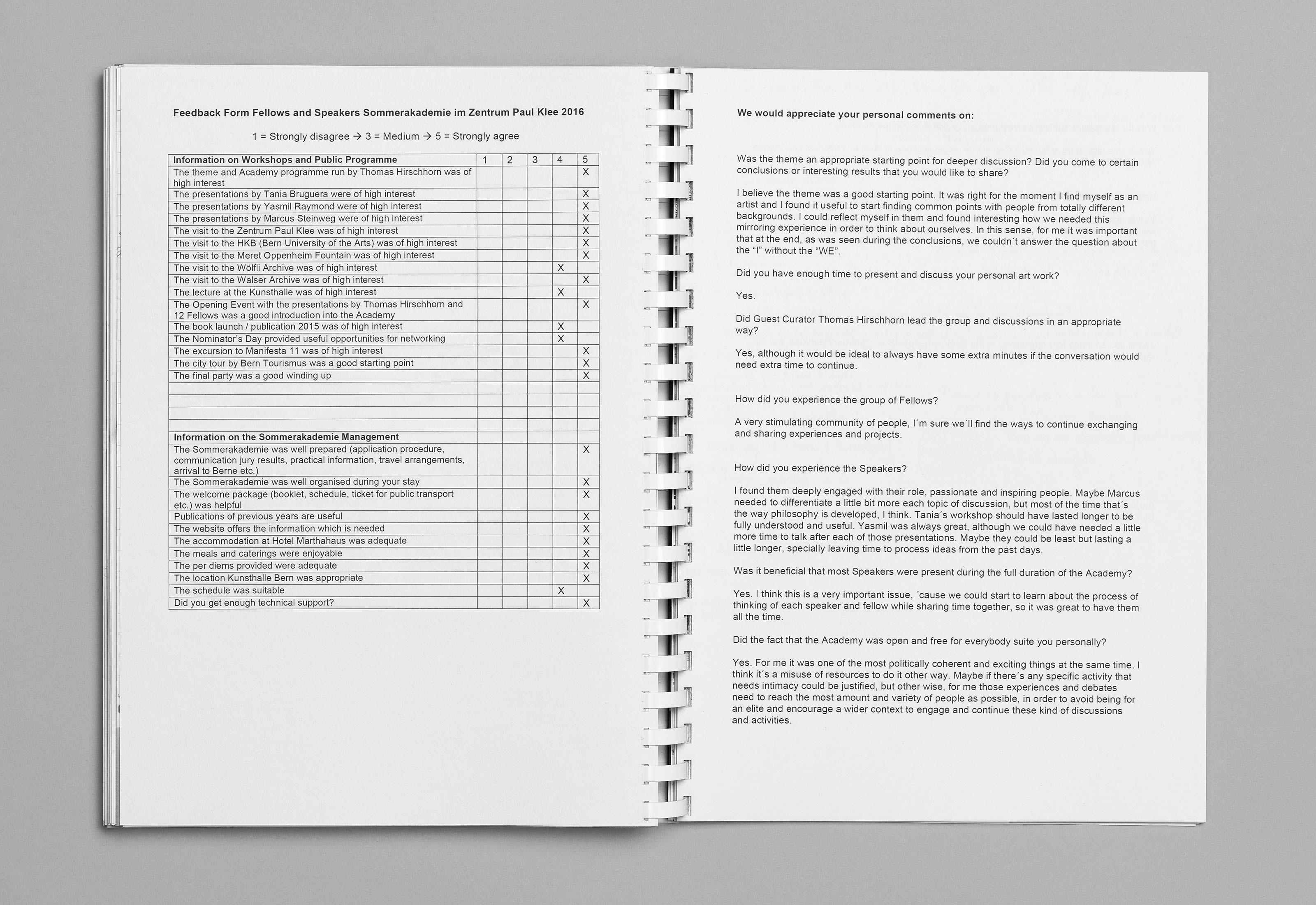 Sommerakademie im Zentrum Paul Klee 2016 – Publikation Thomas Hirschhorn, 13  ©Atelier Pol