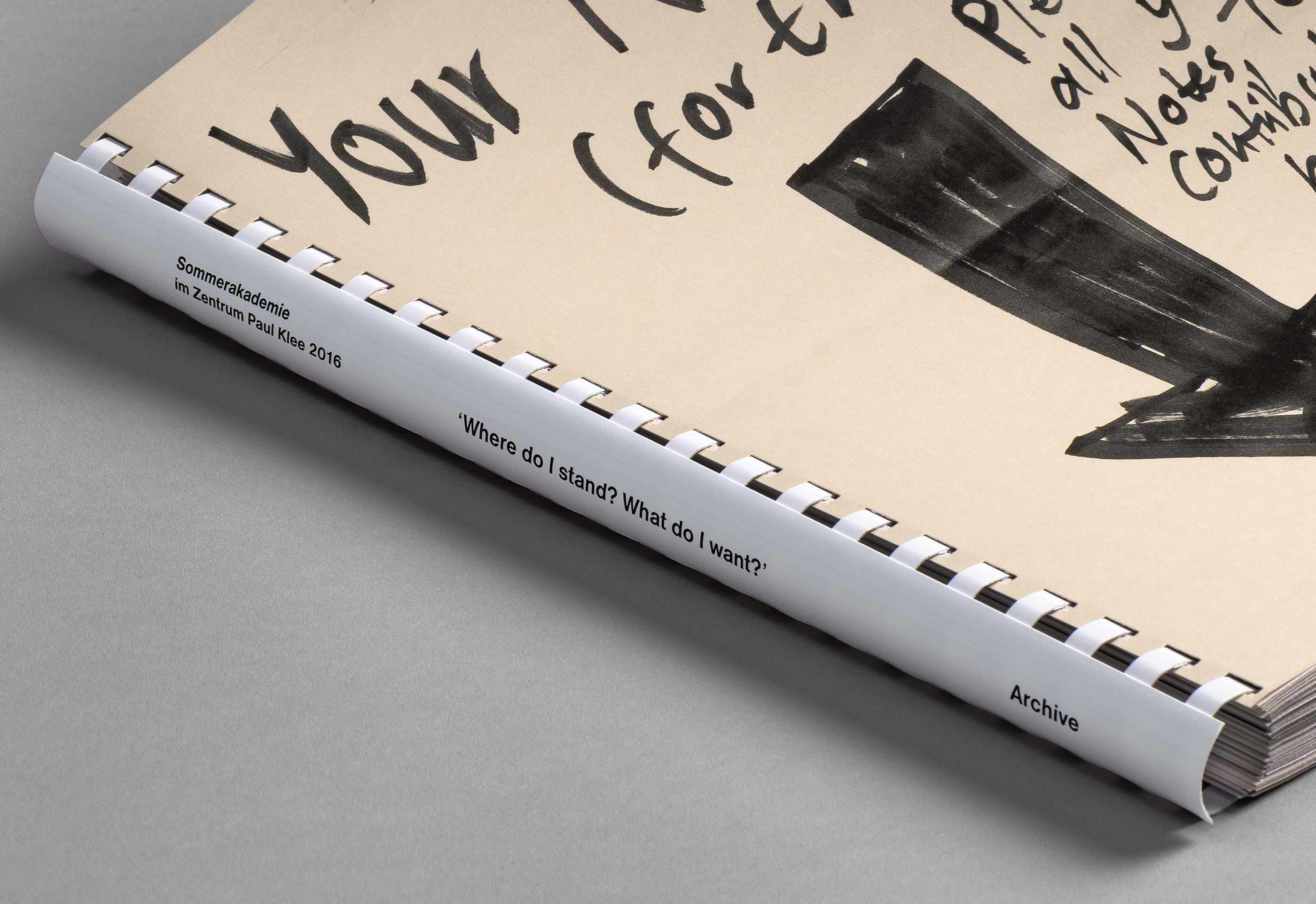 Sommerakademie im Zentrum Paul Klee 2016 – Publikation Thomas Hirschhorn, cover  ©Atelier Pol