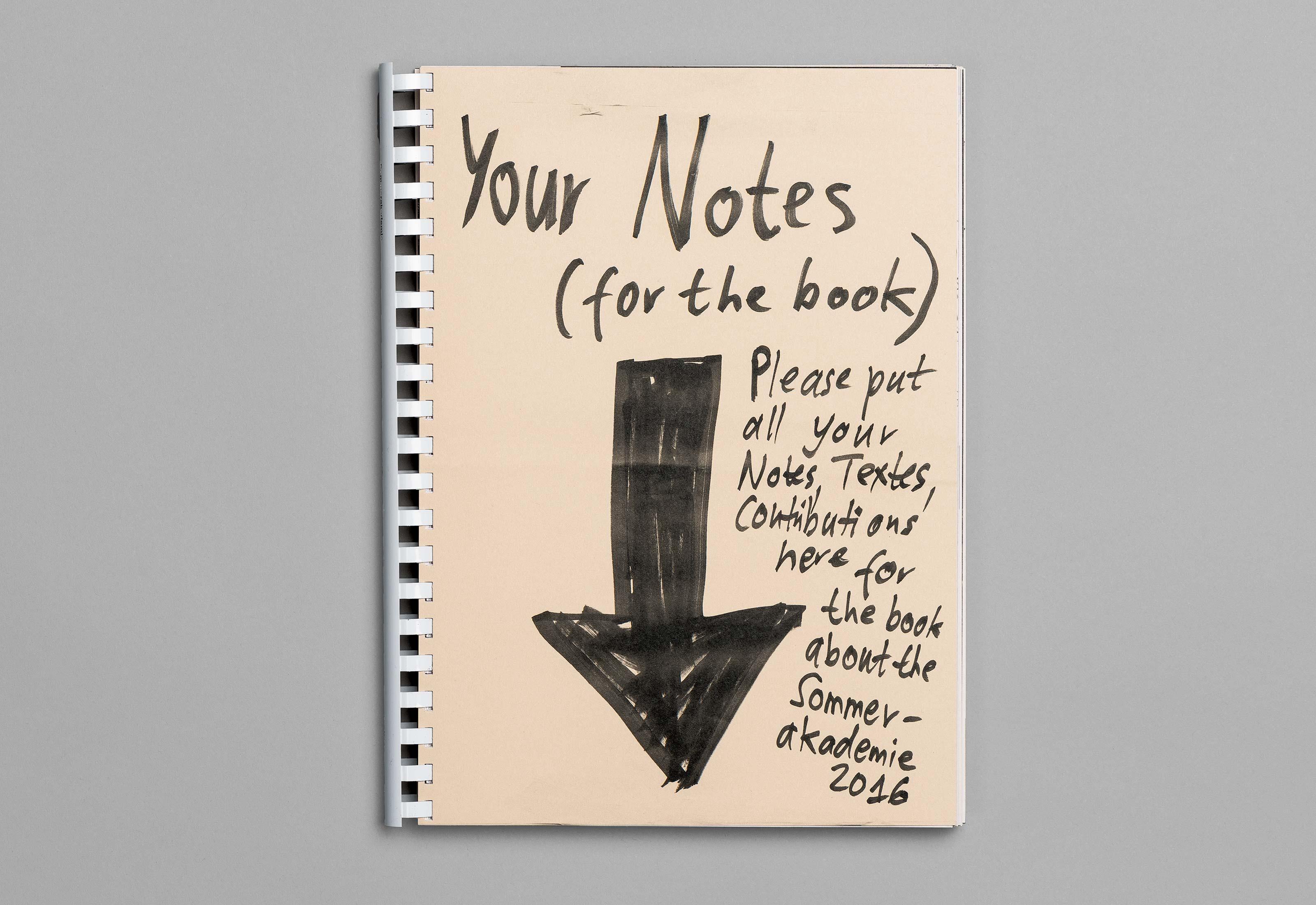 Sommerakademie im Zentrum Paul Klee 2016 – Publikation Thomas Hirschhorn, front  ©Atelier Pol