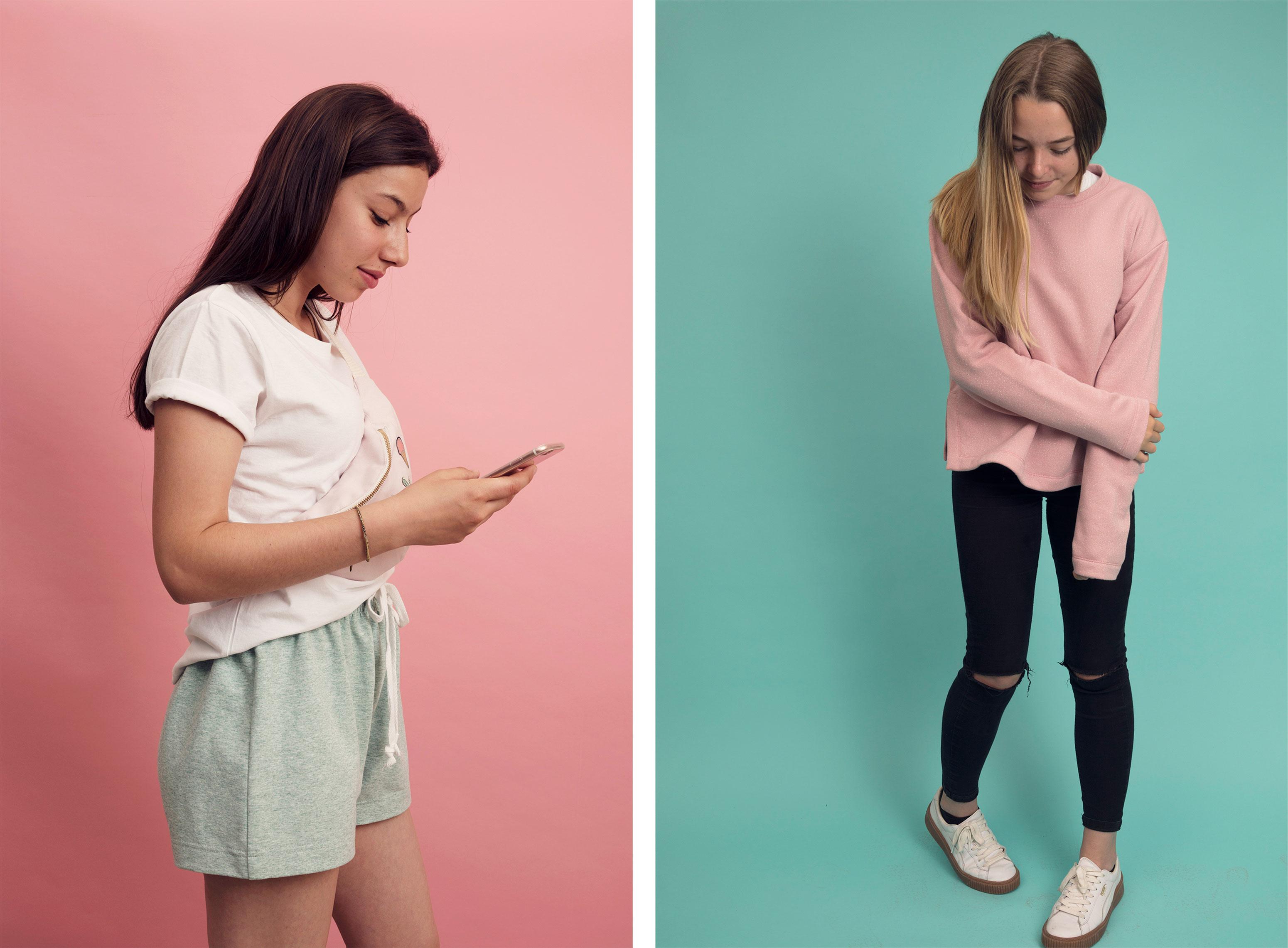 Textil Tricot Vogt – Katalog, fashion 02 ©Atelier Pol × Joëlle Lehmann