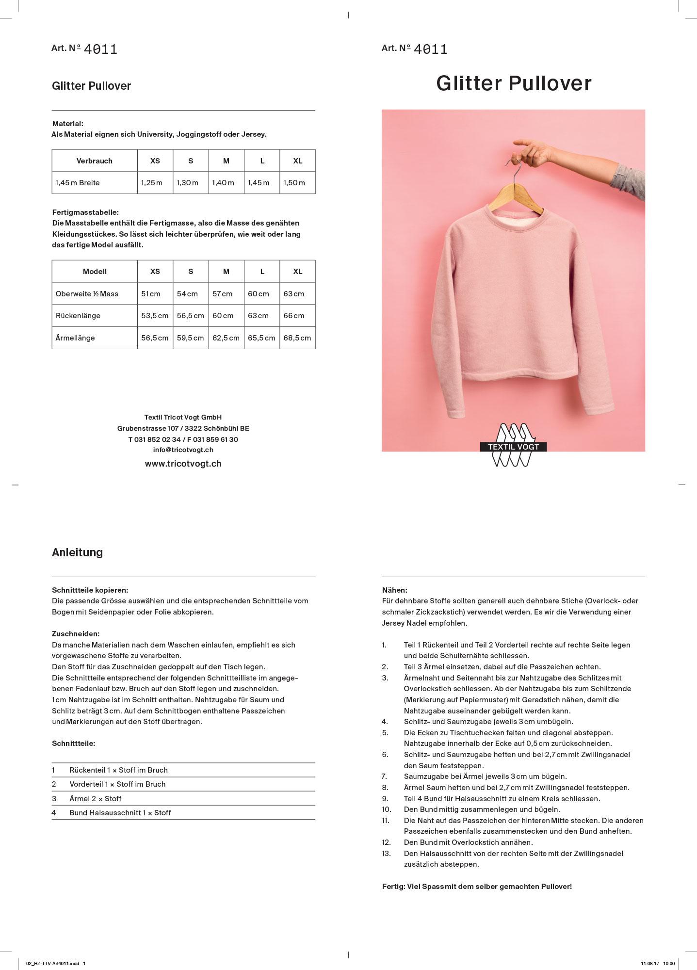 Textil Tricot Vogt – Schnittmuster 4011 ©Atelier Pol