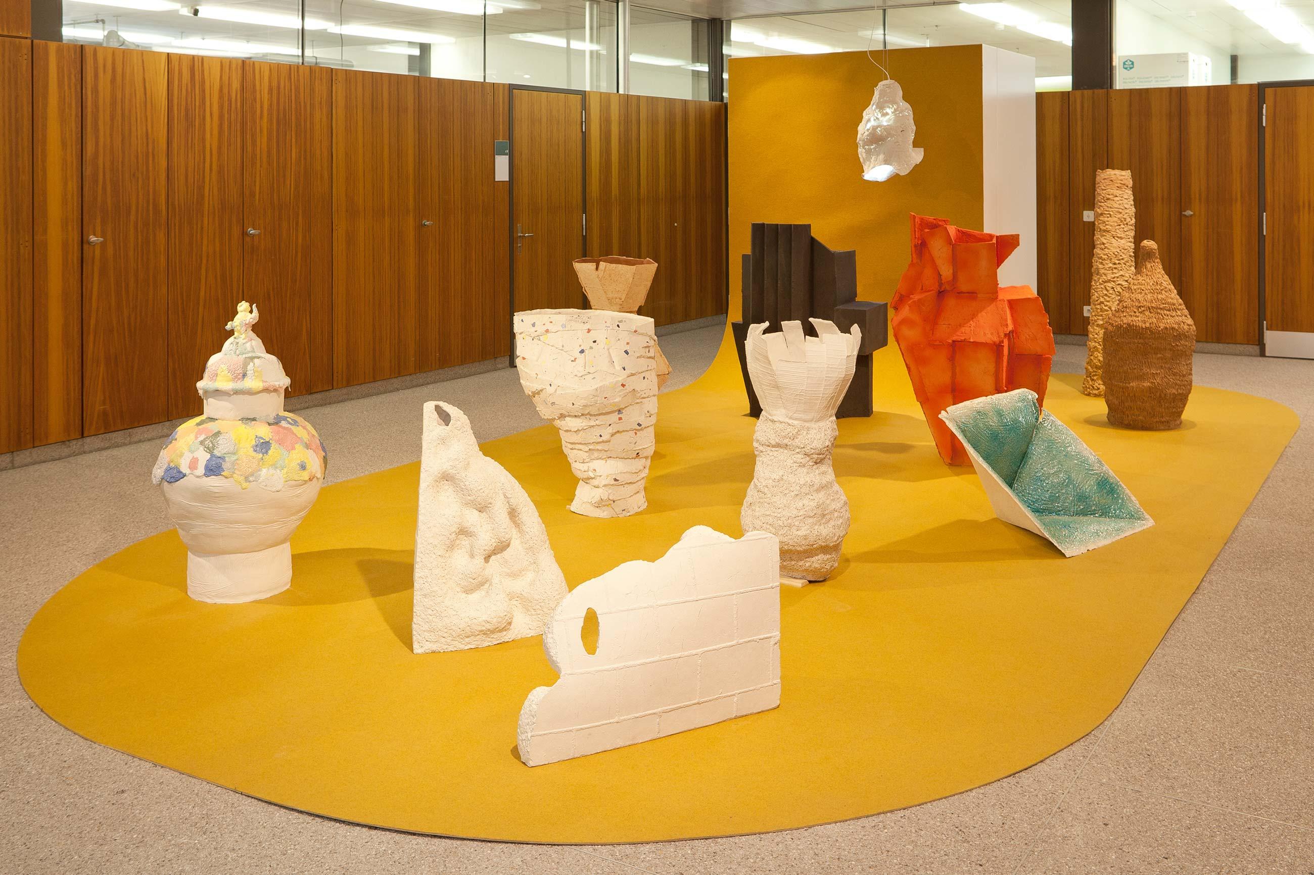 Schule für Gestaltung Bern und Biel Out of Mud, exhibition 01  ©Atelier Pol × Fabio Blaser