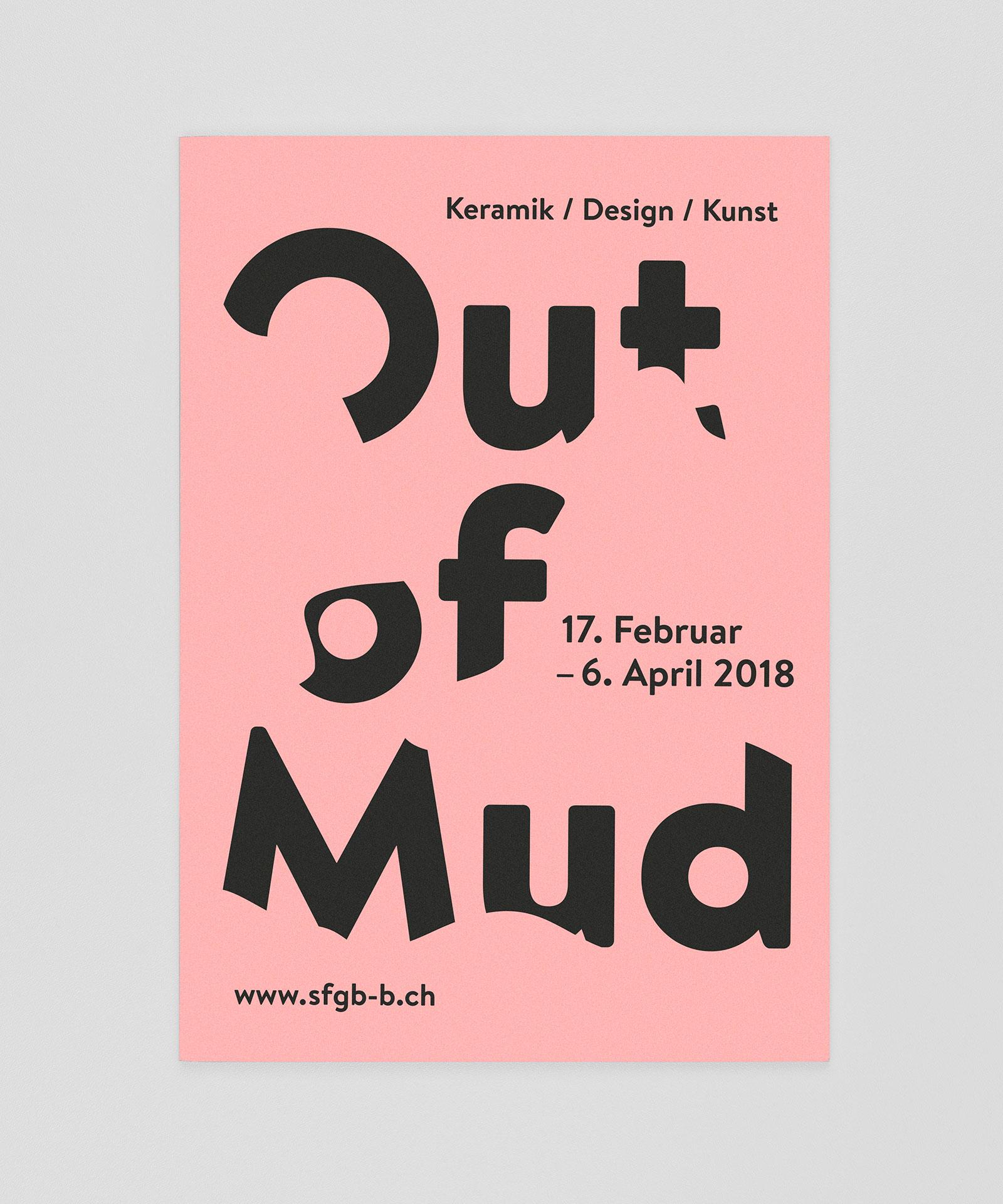 Schule für Gestaltung Bern und Biel Out of Mud, flyer  ©Atelier Pol × Fabio Blaser