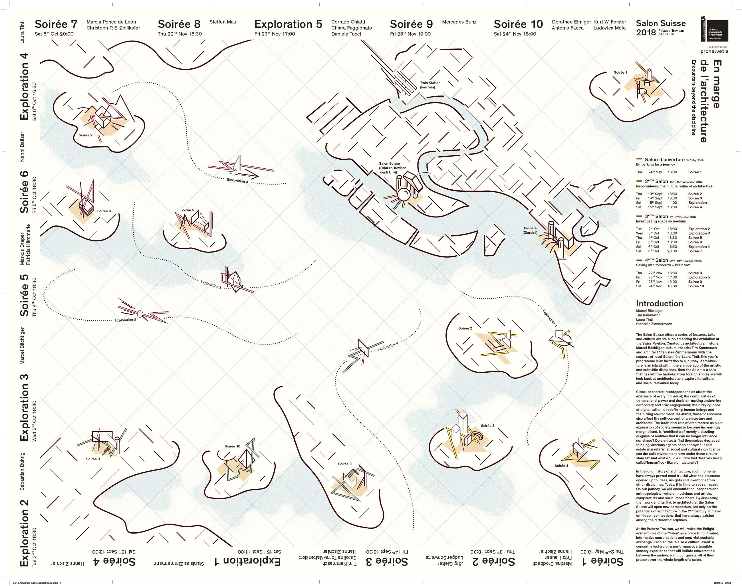 Pro Helvetia 16th International Architecture Exhibition – La Biennale di Venezia «En marge de l'architecture – Encounters beyond the discipline» recto ©Atelier Pol