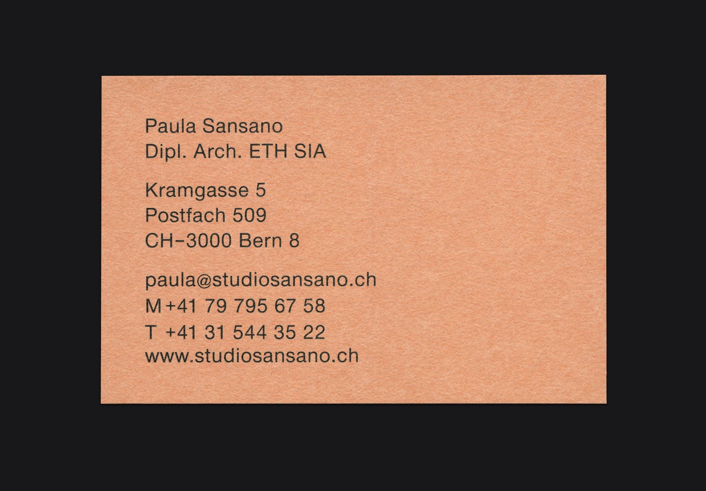 Studio Sansano Corporate Design ©Atelier Pol