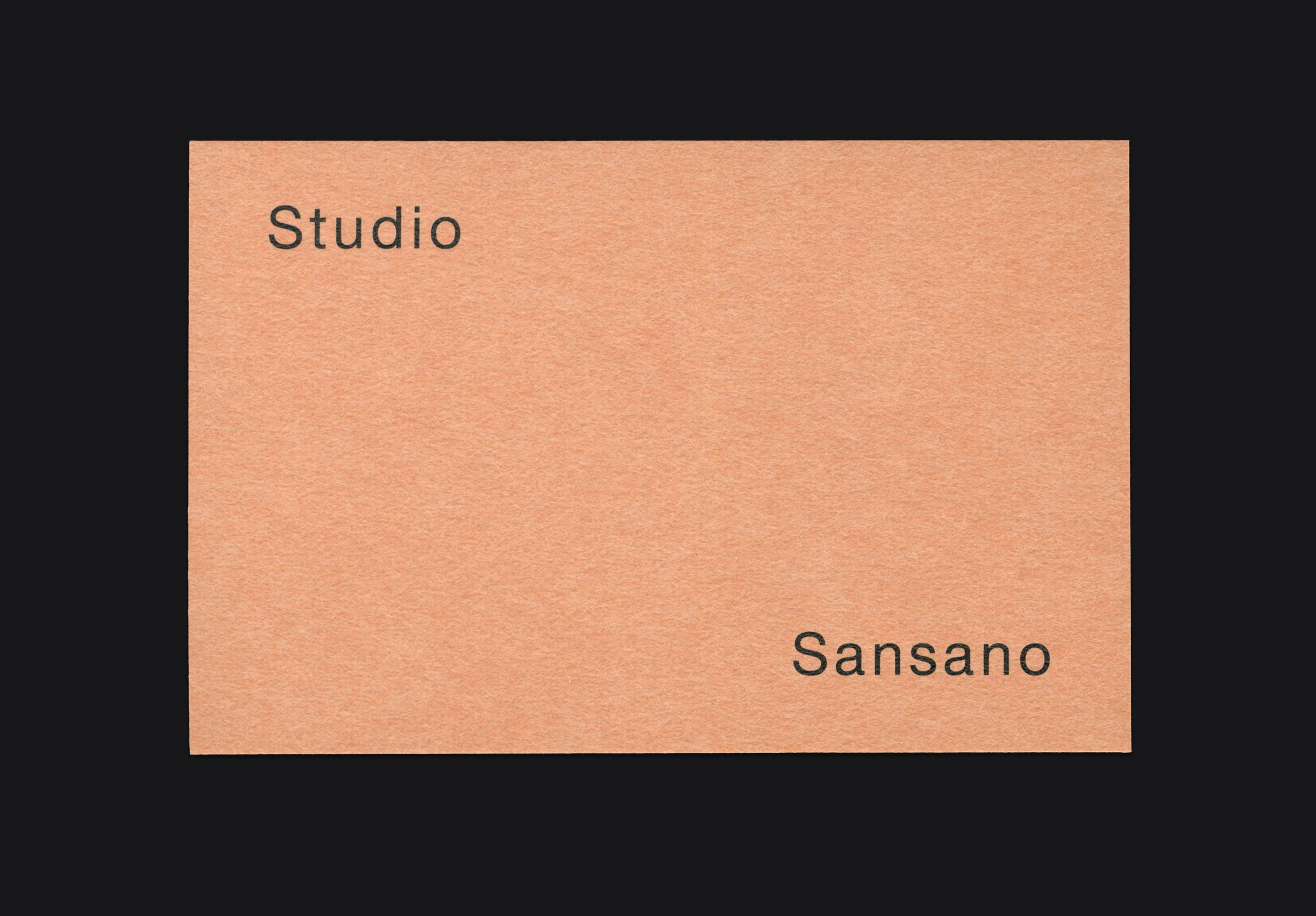 Studio Sansano Corporate Design ©Atelier Pol