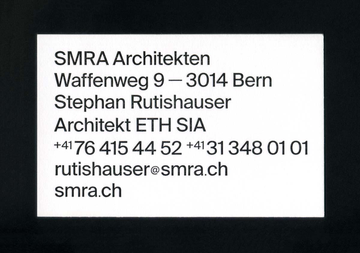 Neue Visitenkarten für SMRA Architekten