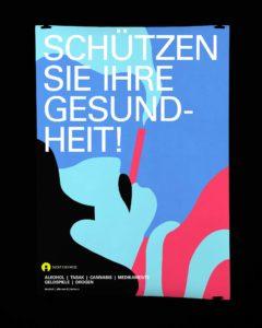 Broschüre Suchtprävention Asylsuchende für Sucht Schweiz