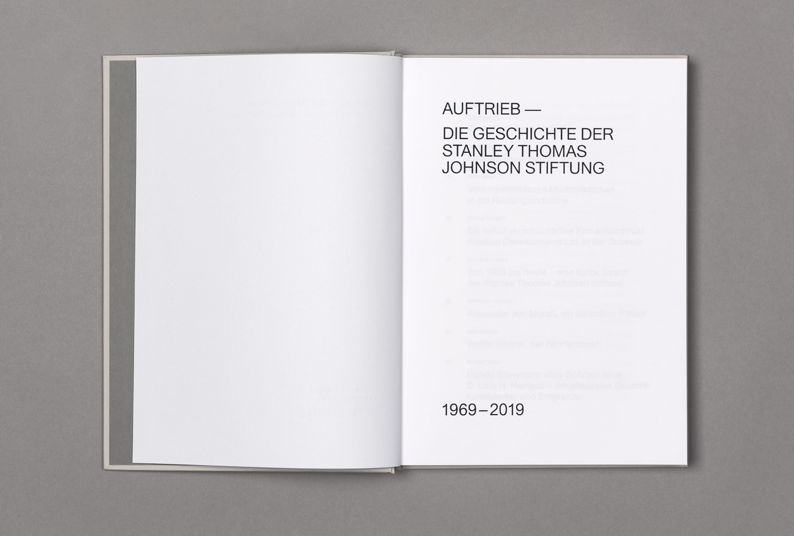 50 Jahre Stanley Thomas Johnson, die Publikation zum Jubiläum