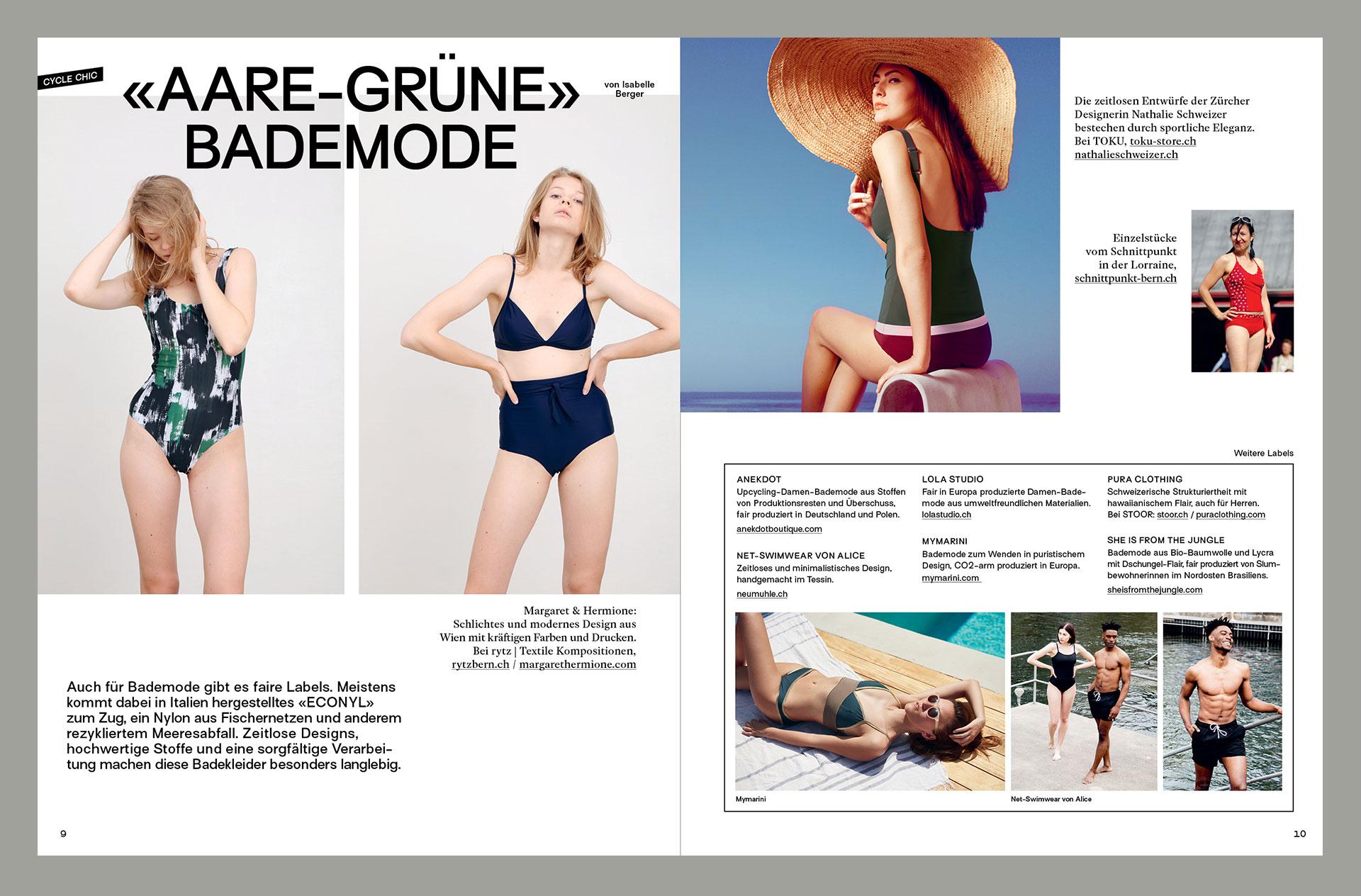 Atelier Pol, Velo Fair Fashion Magazin, magazine, editorial design, quartierzeit, bern, switzerland