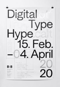 Ausstellungsdesign «Digital Type Hype»