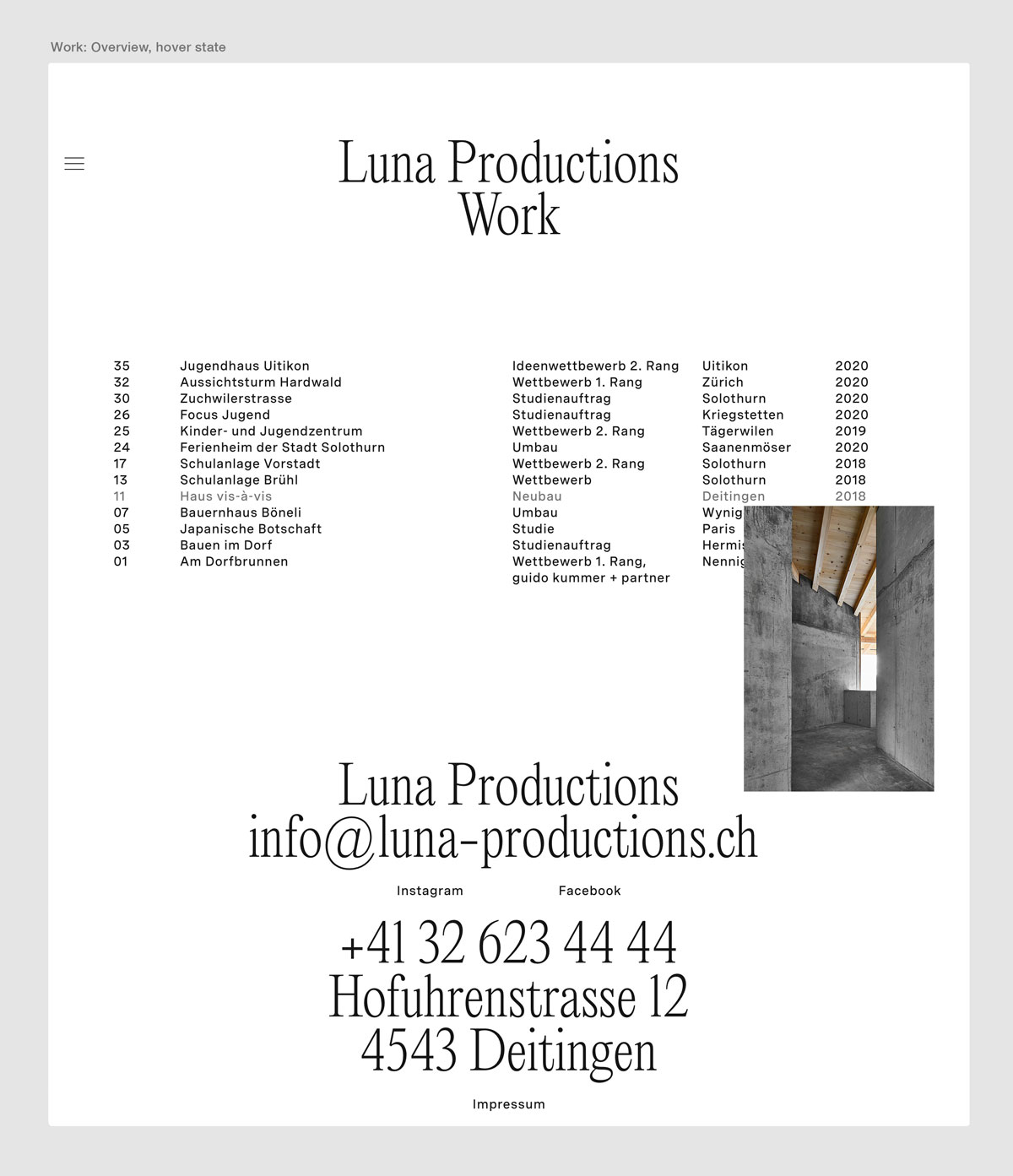 Neue Website und Corporate Identity für Luna Productions Architekten